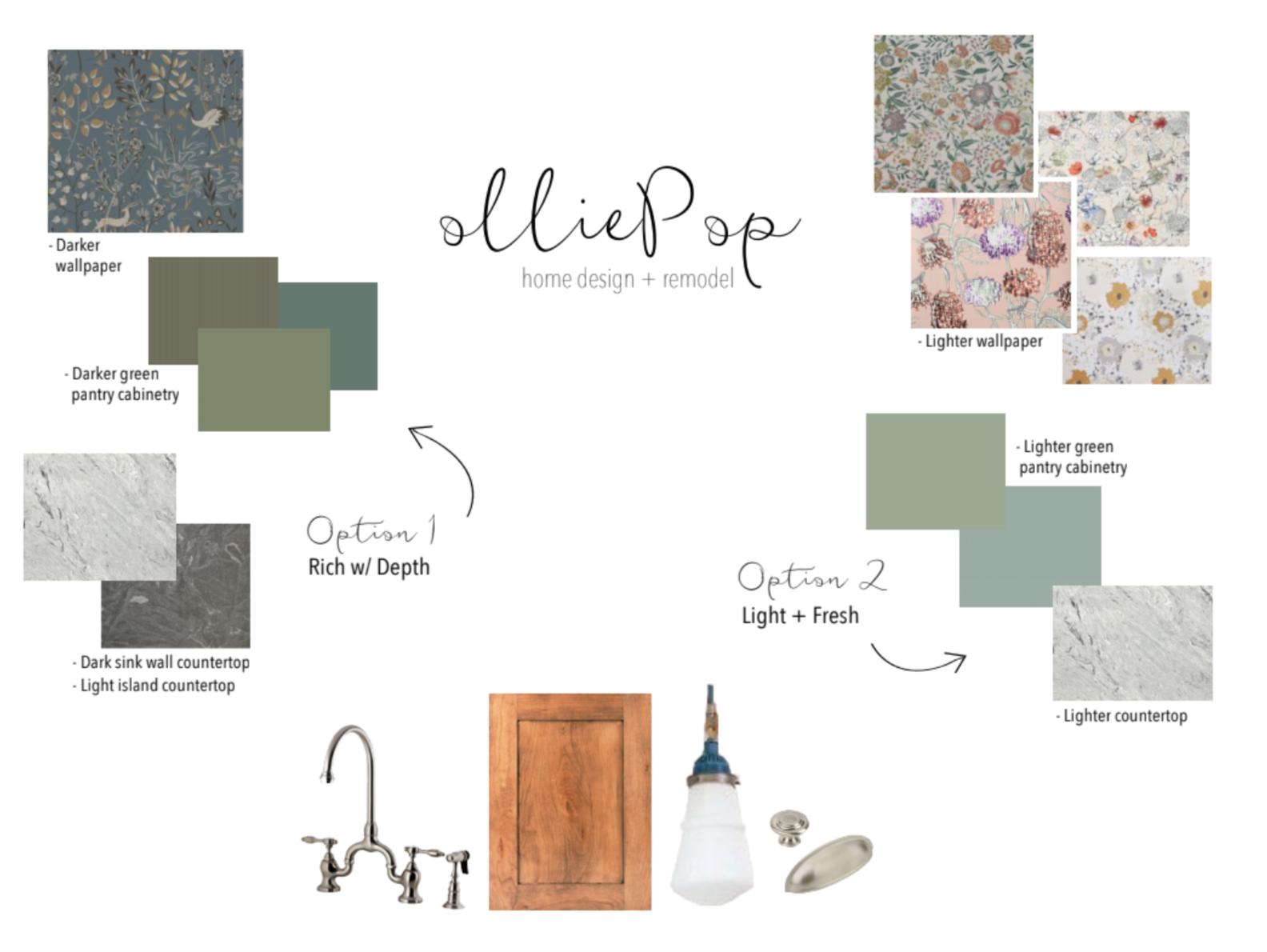 OlliePop Design // Kitchen remodel : moodboard