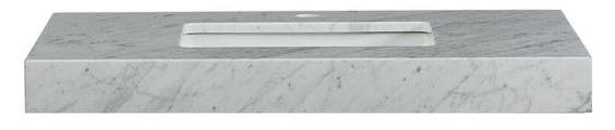 """We ended up finding this 3"""" thick  Carrara marble countertop  at Wayfair, and had to order 4 of them because they kept arriving damaged! This was the first time I didn't do a custom stone countertop and it'll be the last. So much for trying to save my client a couple hundred bucks. At the end of the day it set us back in both time and budget. Wayfair customer service was great but this item should never be shipped with one mail person expected to lift it and deliver it themselves. For reference, this is about $540 after tax and getting this custom made would be more like $650-800 depending on where you live and fabrication costs."""