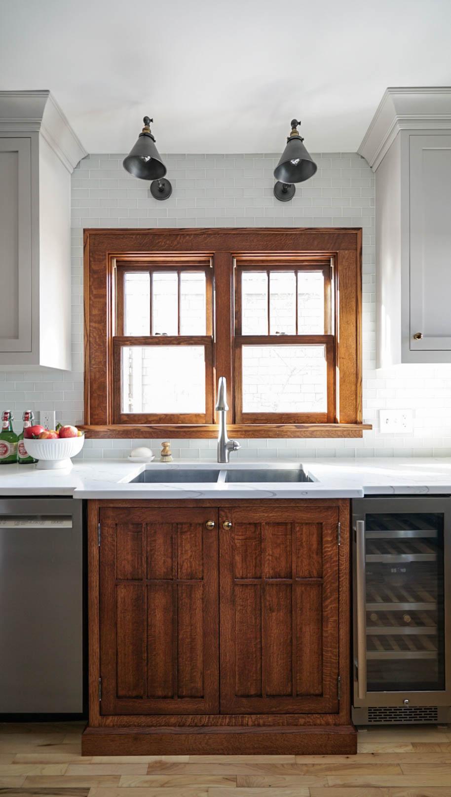 modern craftsman kitchen remodel