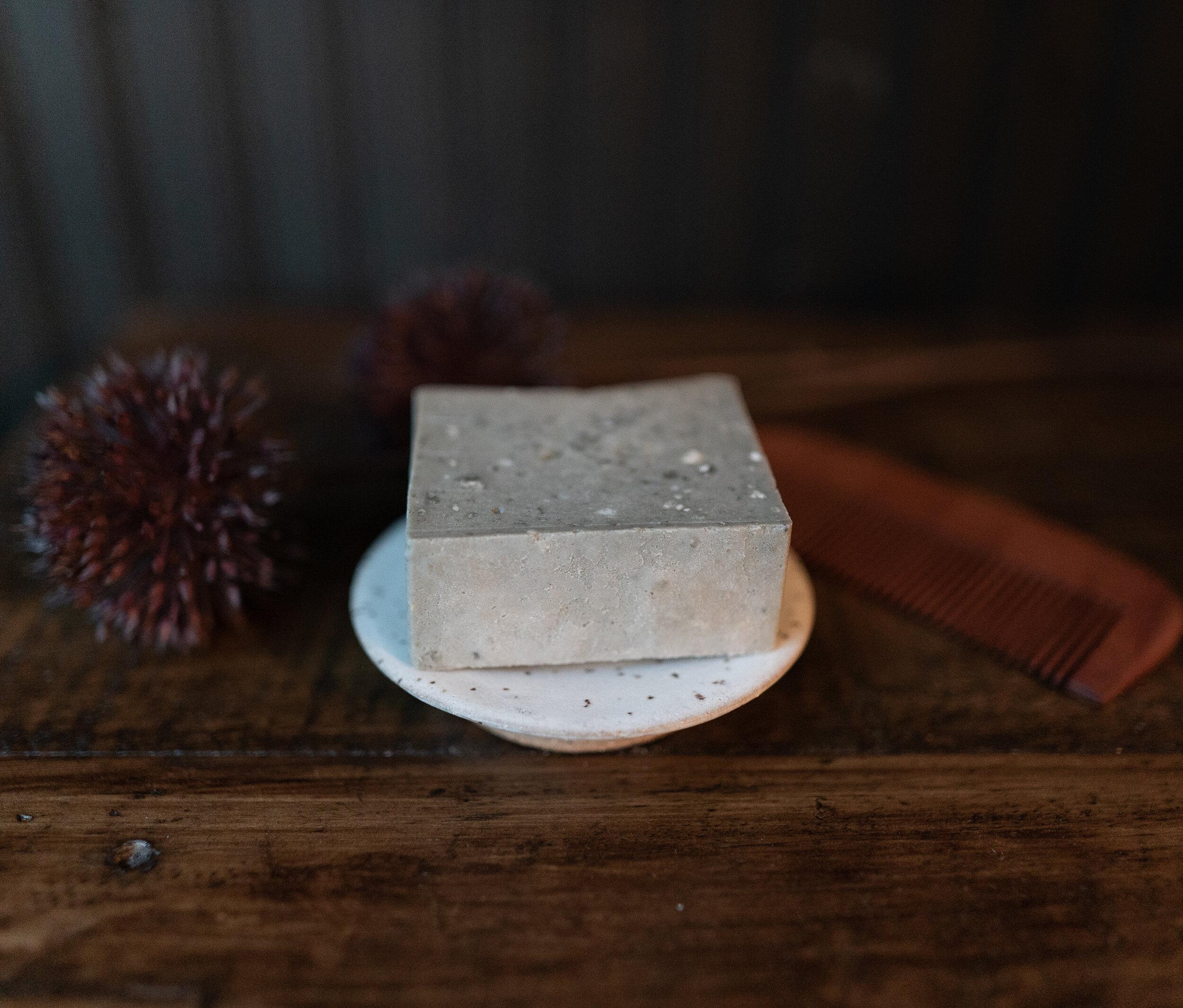 Ceramic Organic Dark Blue Soap Dish Handmade Bowl