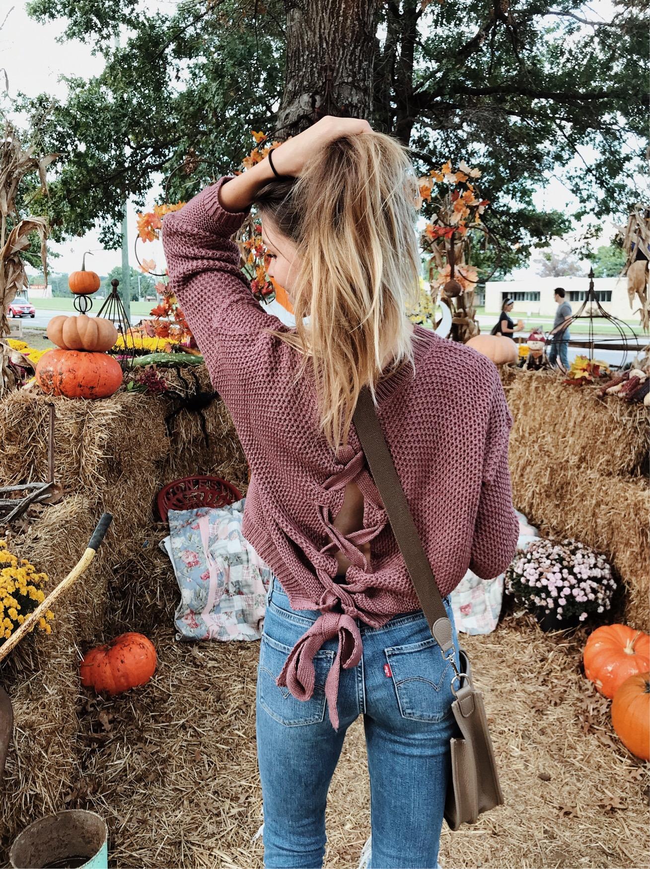 Lace-up Split Back Sweater.JPG