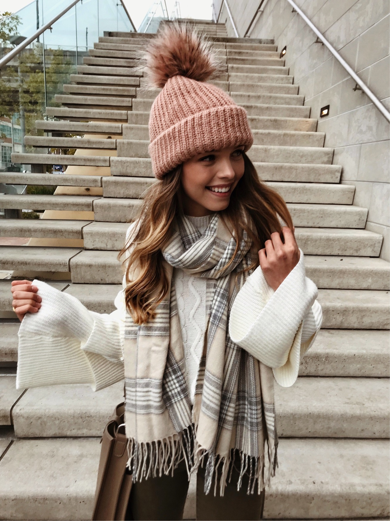 Tiered Sleeve Cable Knit Sweater.JPG