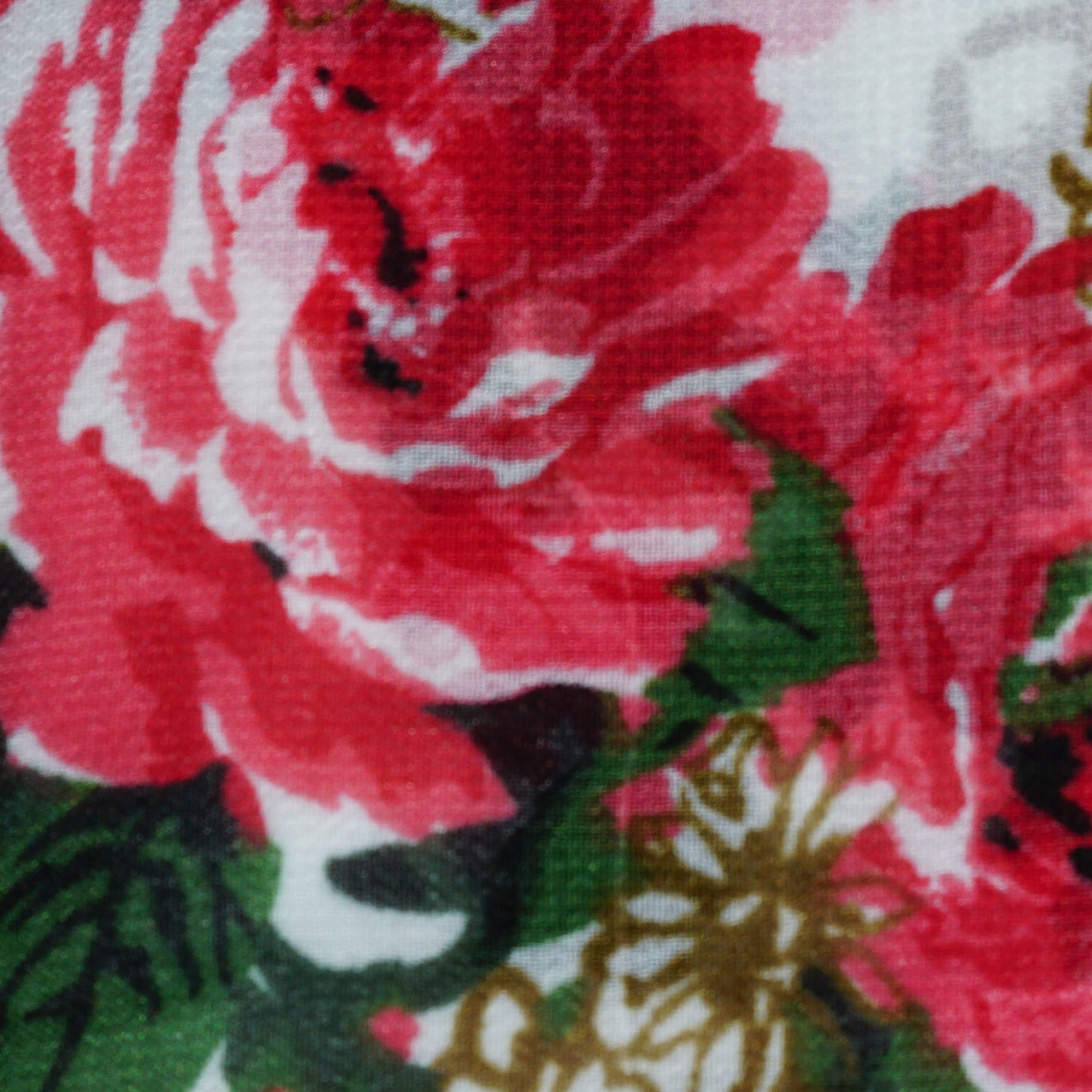 White & Red Floral