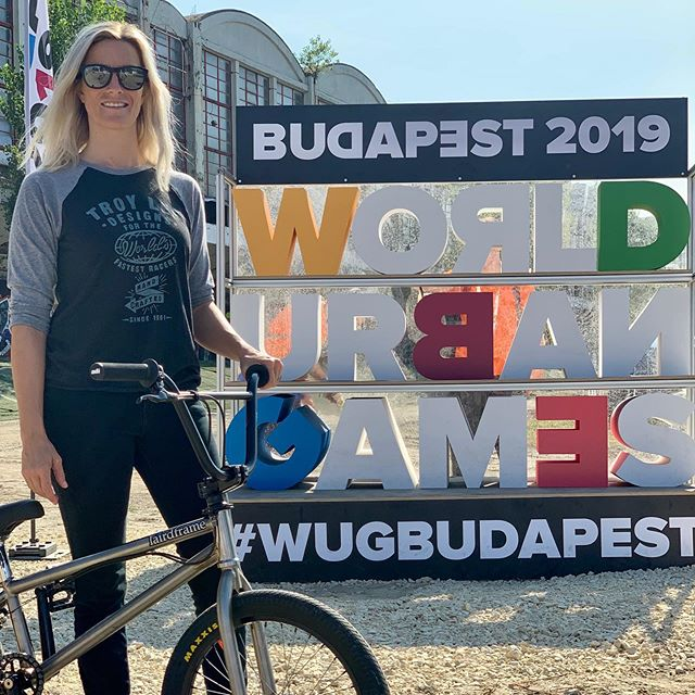 Back in Budapest for the @worldurbangames - beautiful city and fun course!  #wugbudapest #bmx