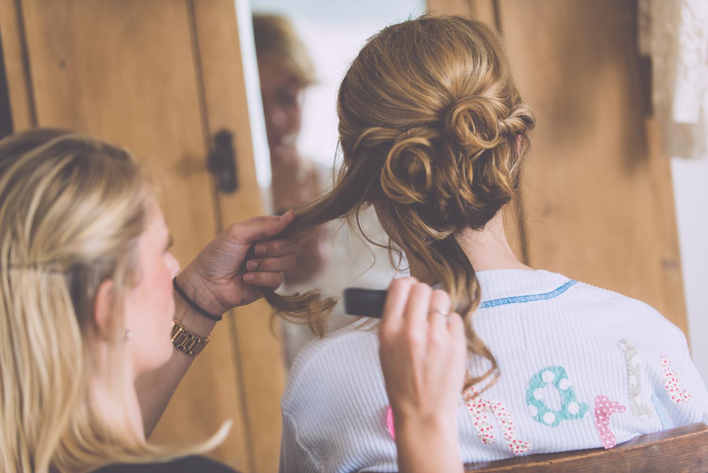 St Agnes Wedding hair up