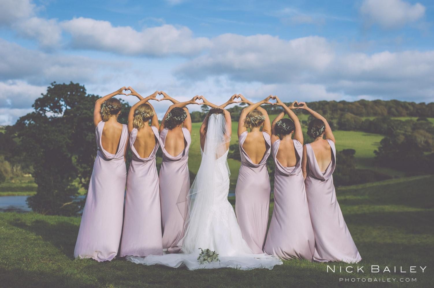 Bridesmaids  @caerhays castle