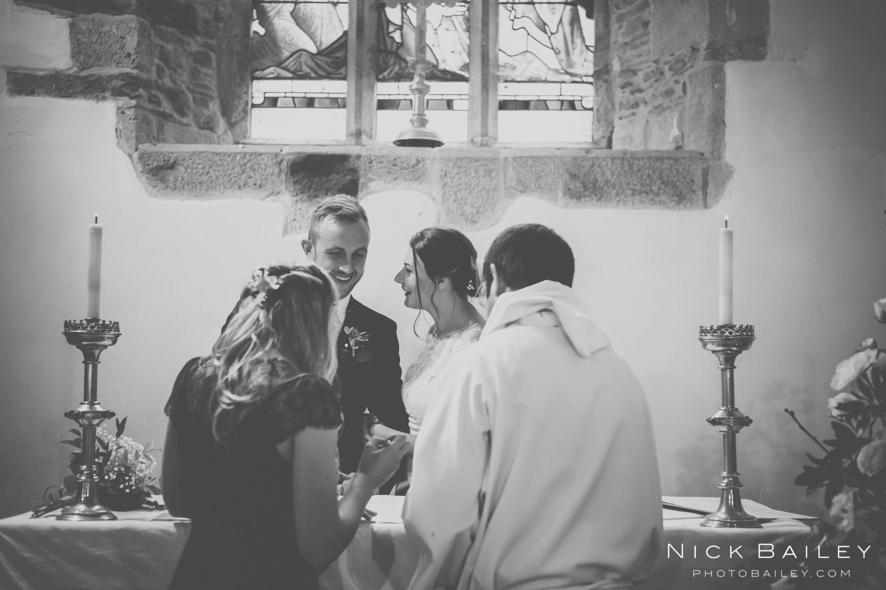 st colan church wedding