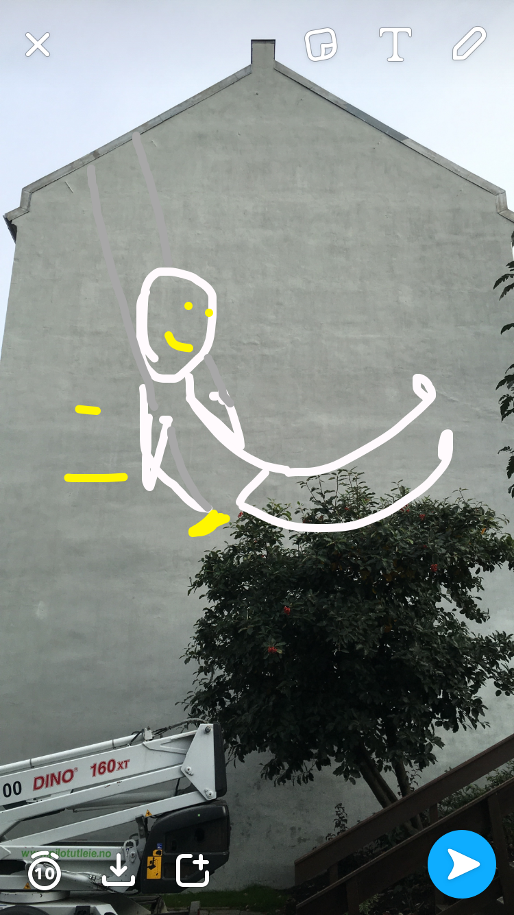 Plasserings-skissetriks: Snapchat.