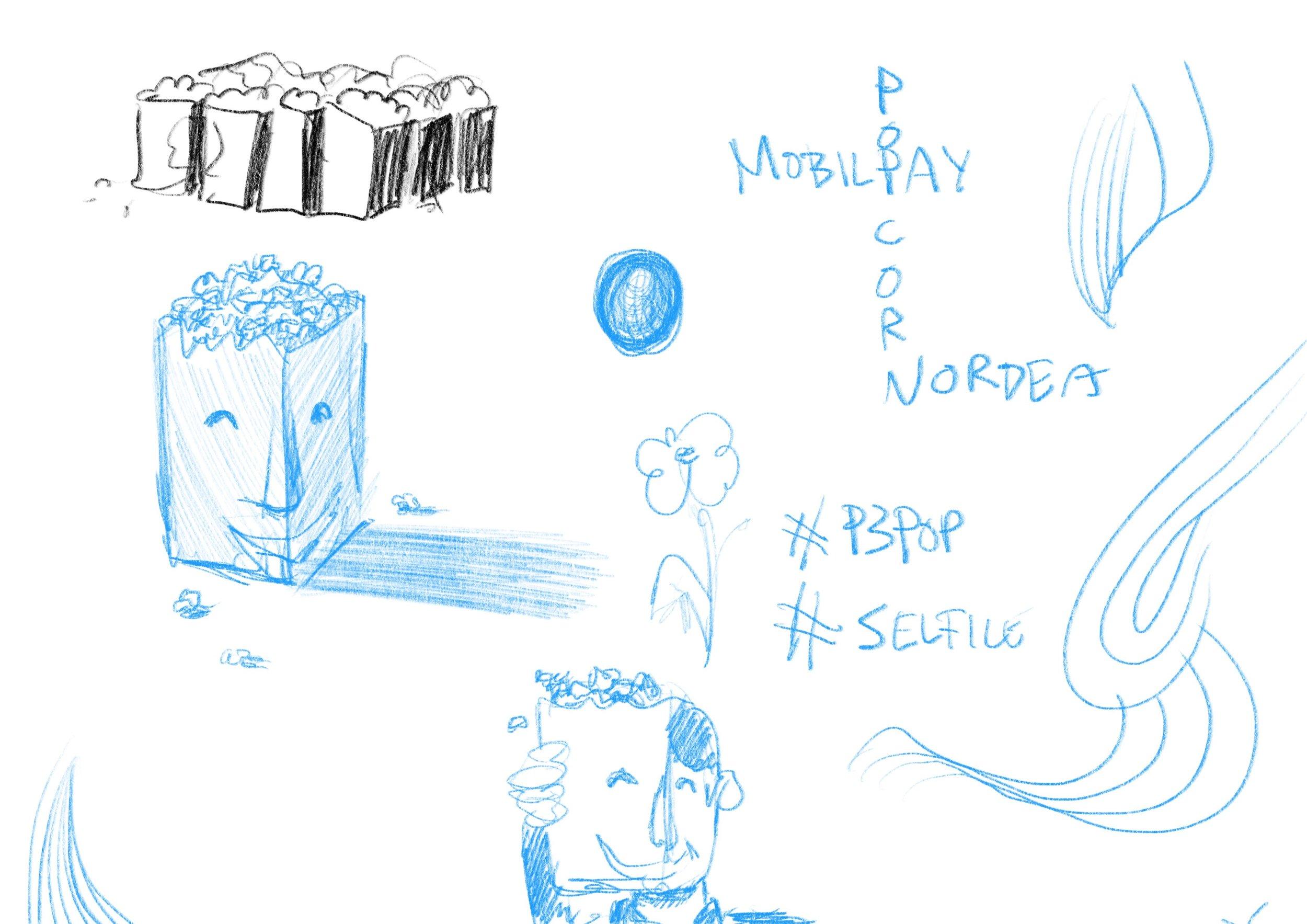 Tenker på flere ting samtidig. Alt i fra eventuell bruk i sosiale medier, til det visuelle.
