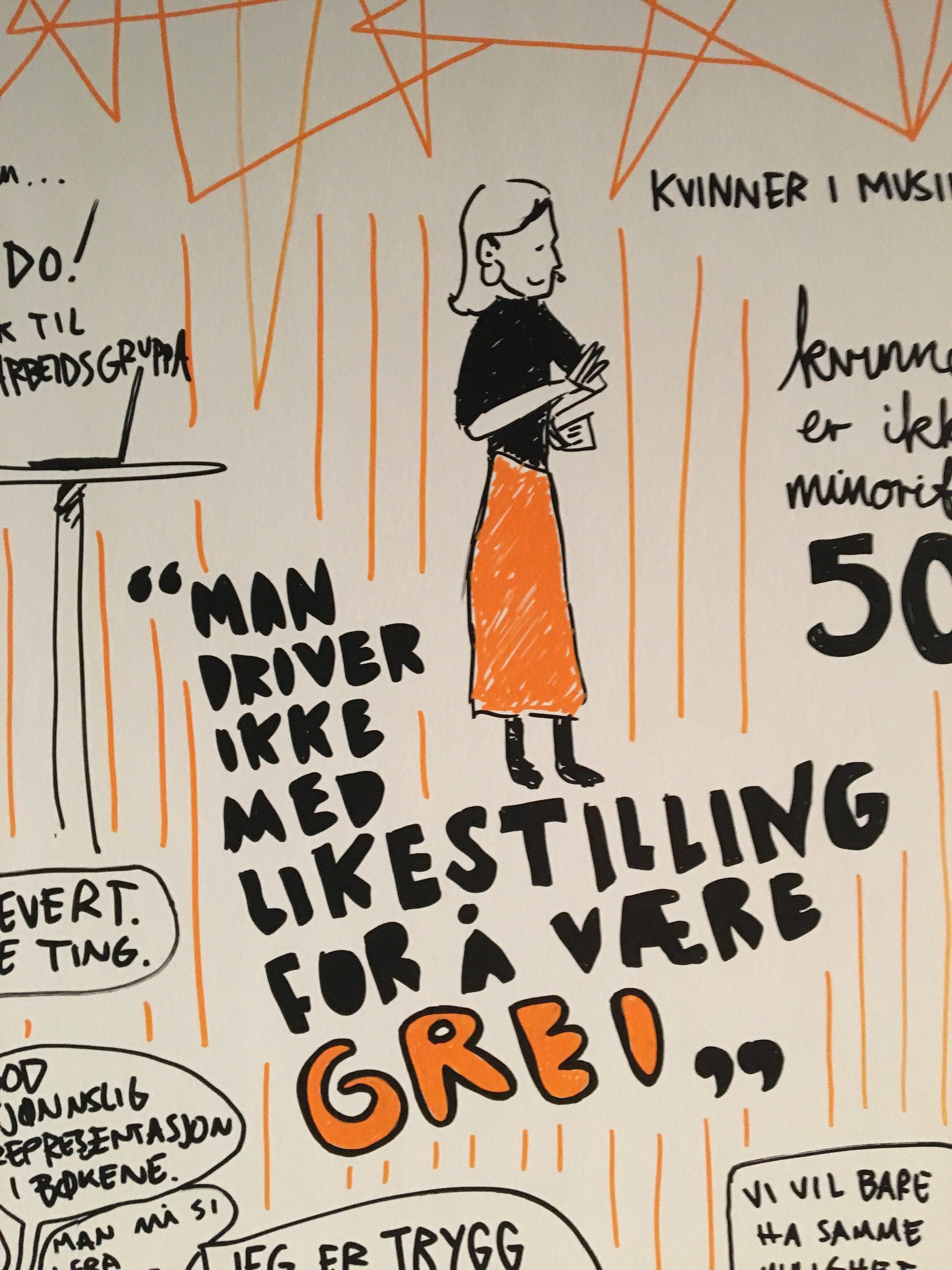 Detalj fra Balansekunstkonferansen i Oslo.
