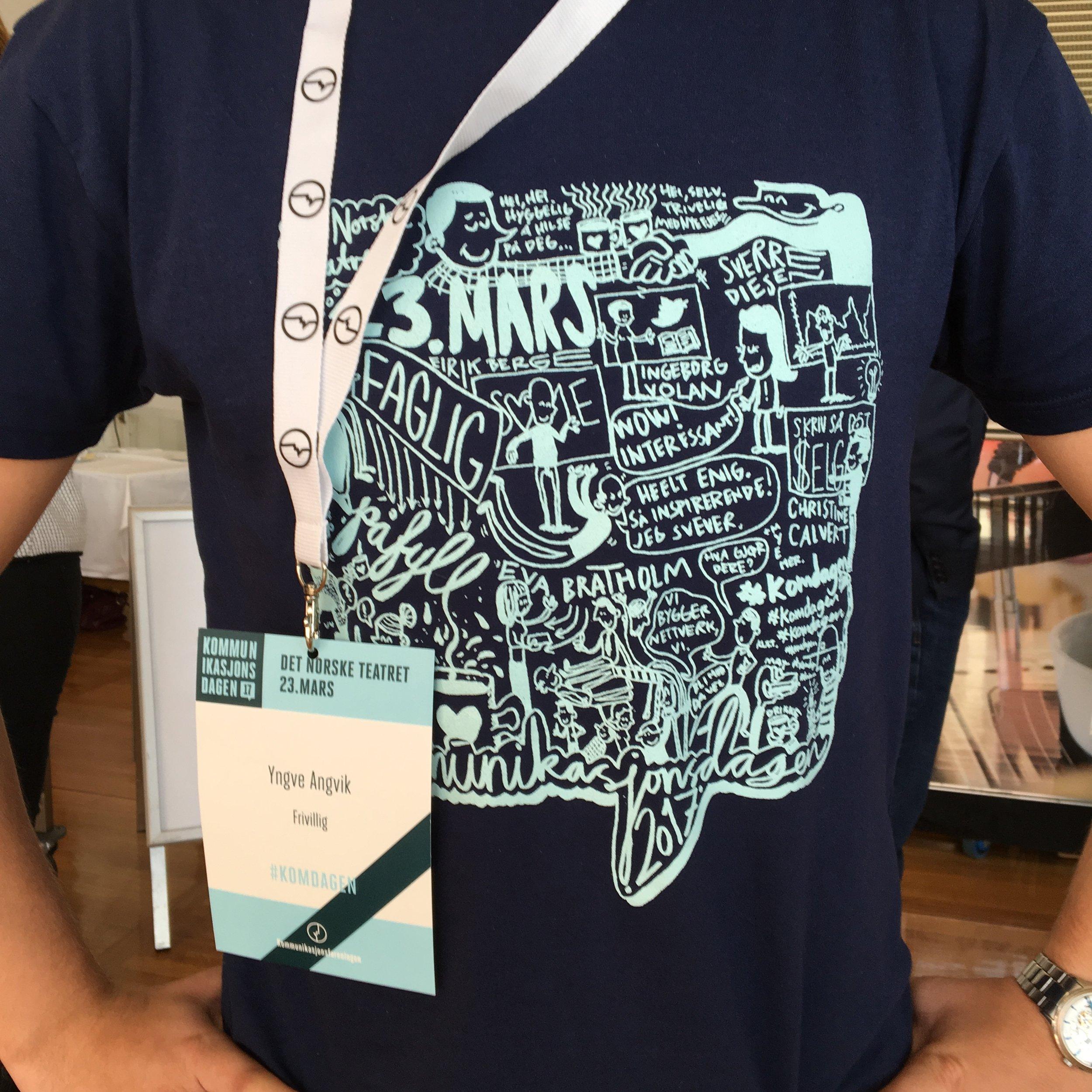 T-shirt på de frivillige <3