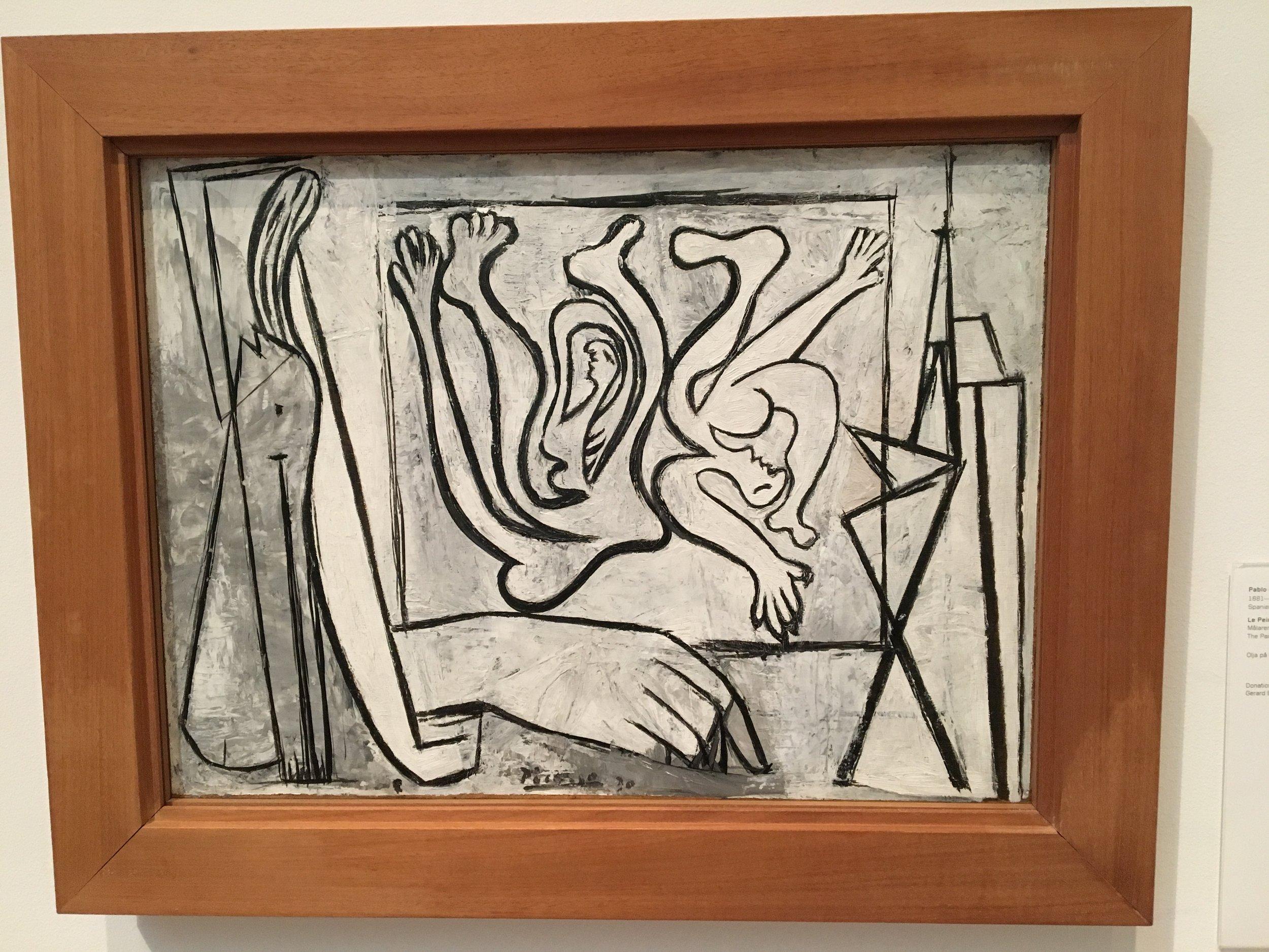 Jeg har nettopp lest ferdig en bok om Picasso, så det passet glimrende å se no snacks live.
