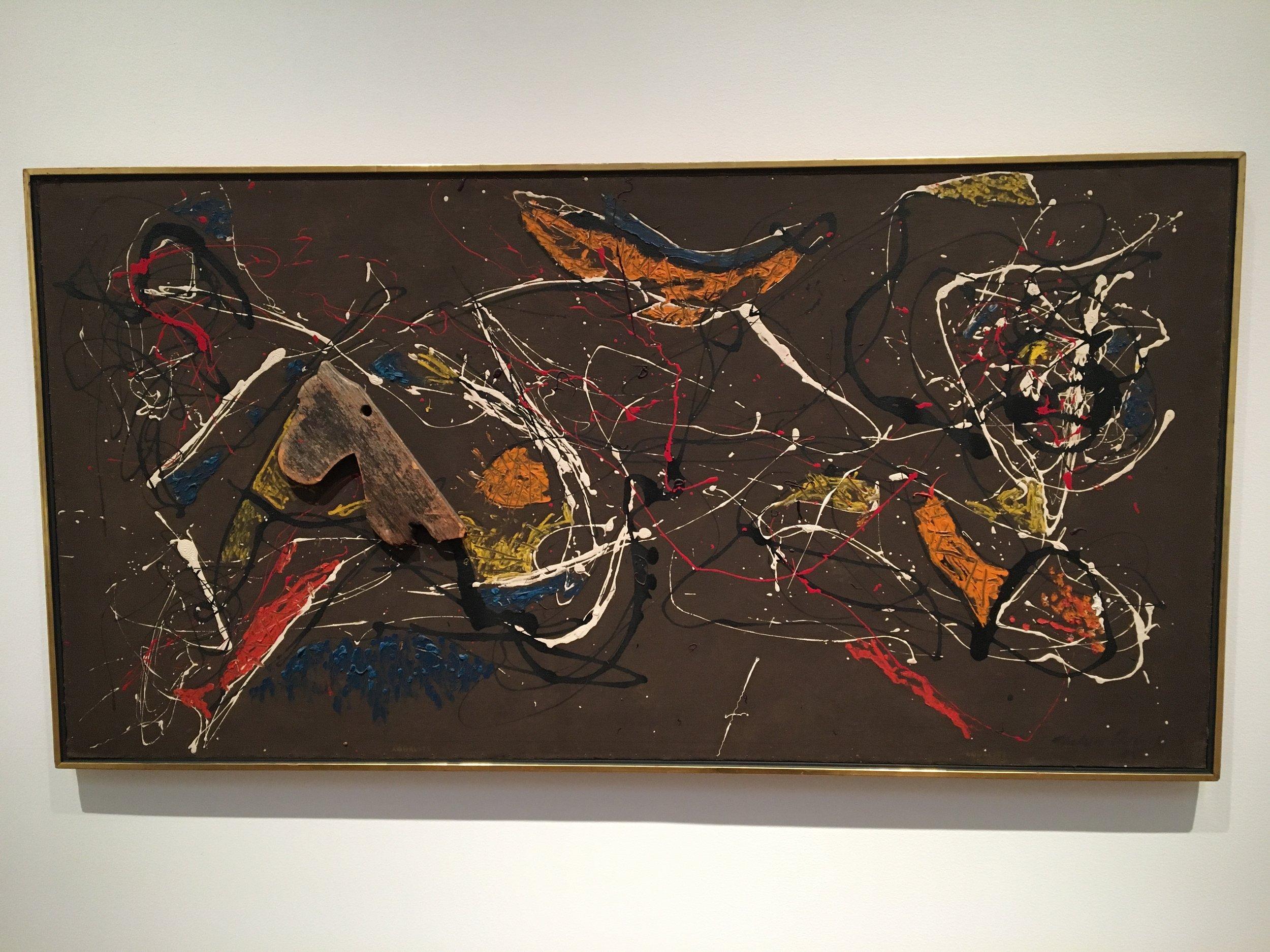 Jackson Pollock koste seg på veggen han også.