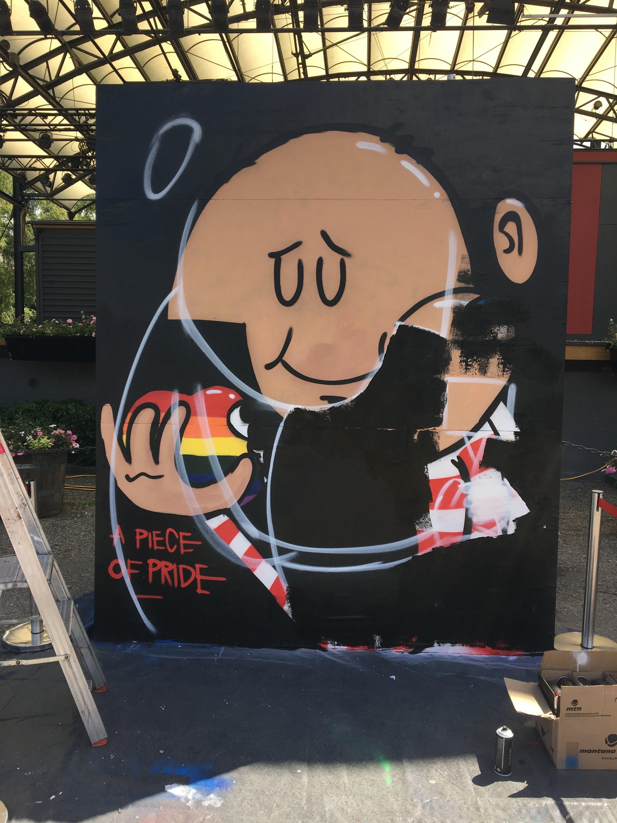 Forbipasserende mente det var brutalt å male over nymalte vegger. Jeg er til en viss grad enig. Men det er også befriende.
