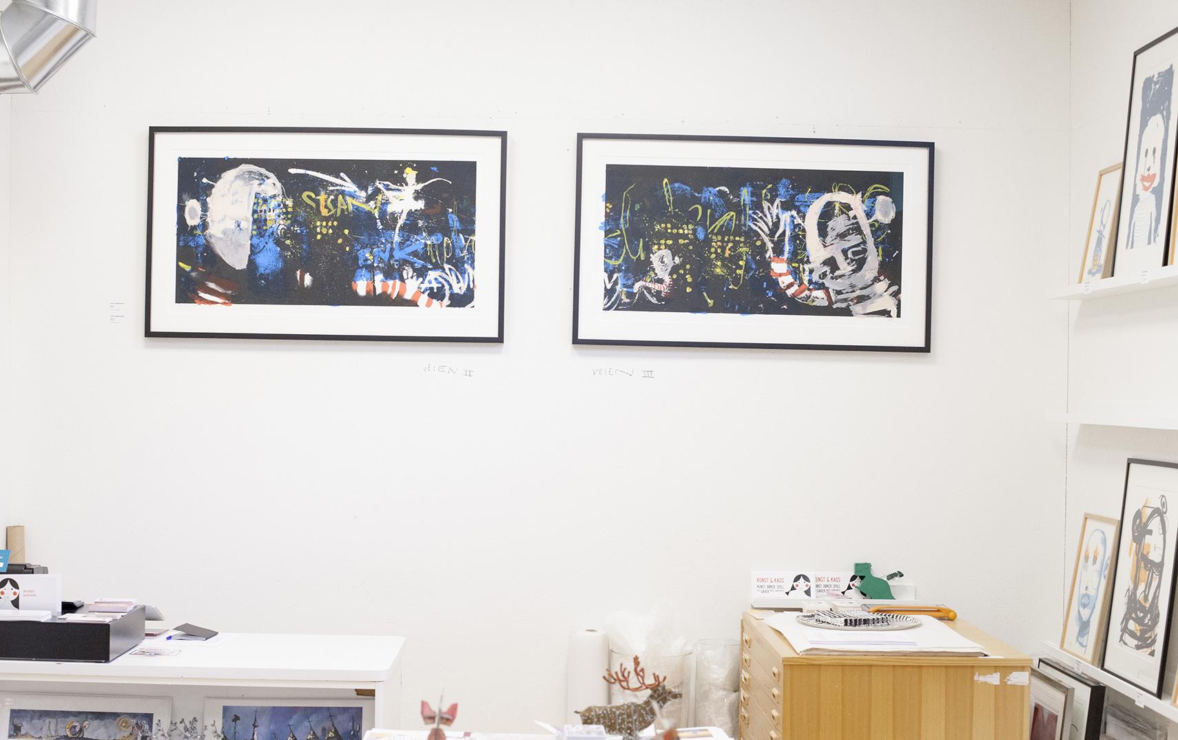 """""""Veien II"""" og """"Veien III"""" ble vist offentlig første gang på Kunst og Kaos."""