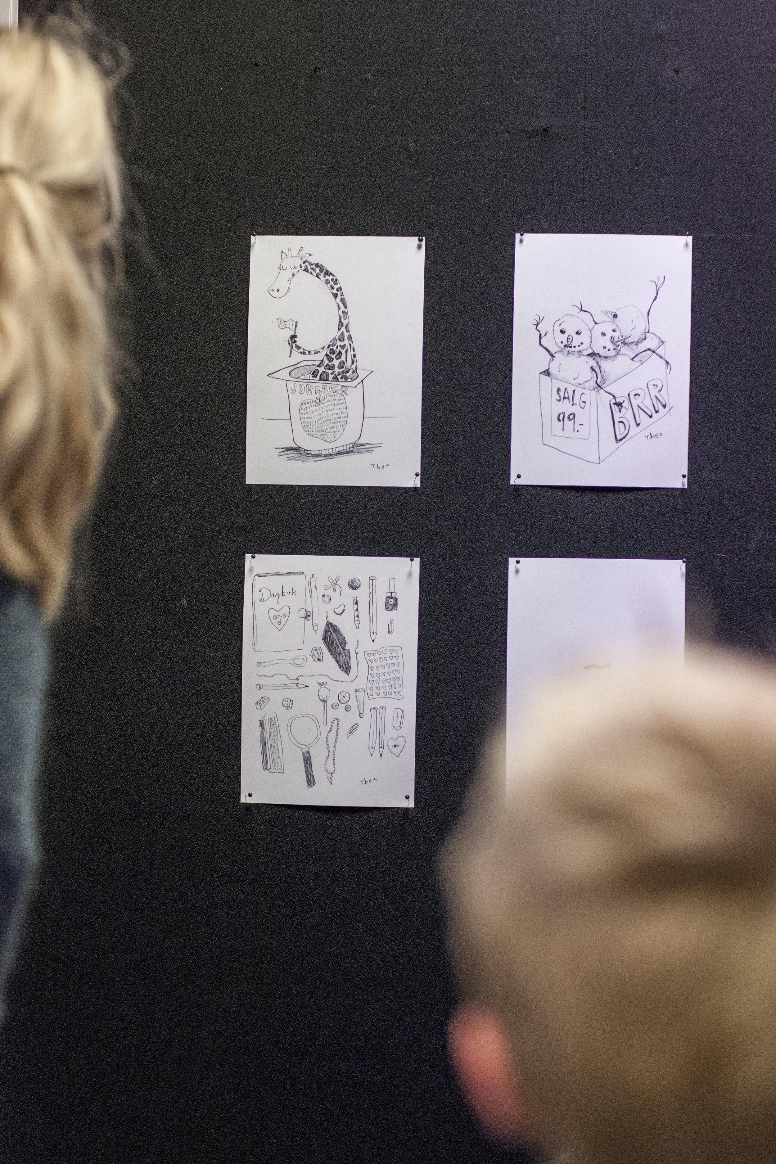 Theas illustrasjoner granskes nøye.