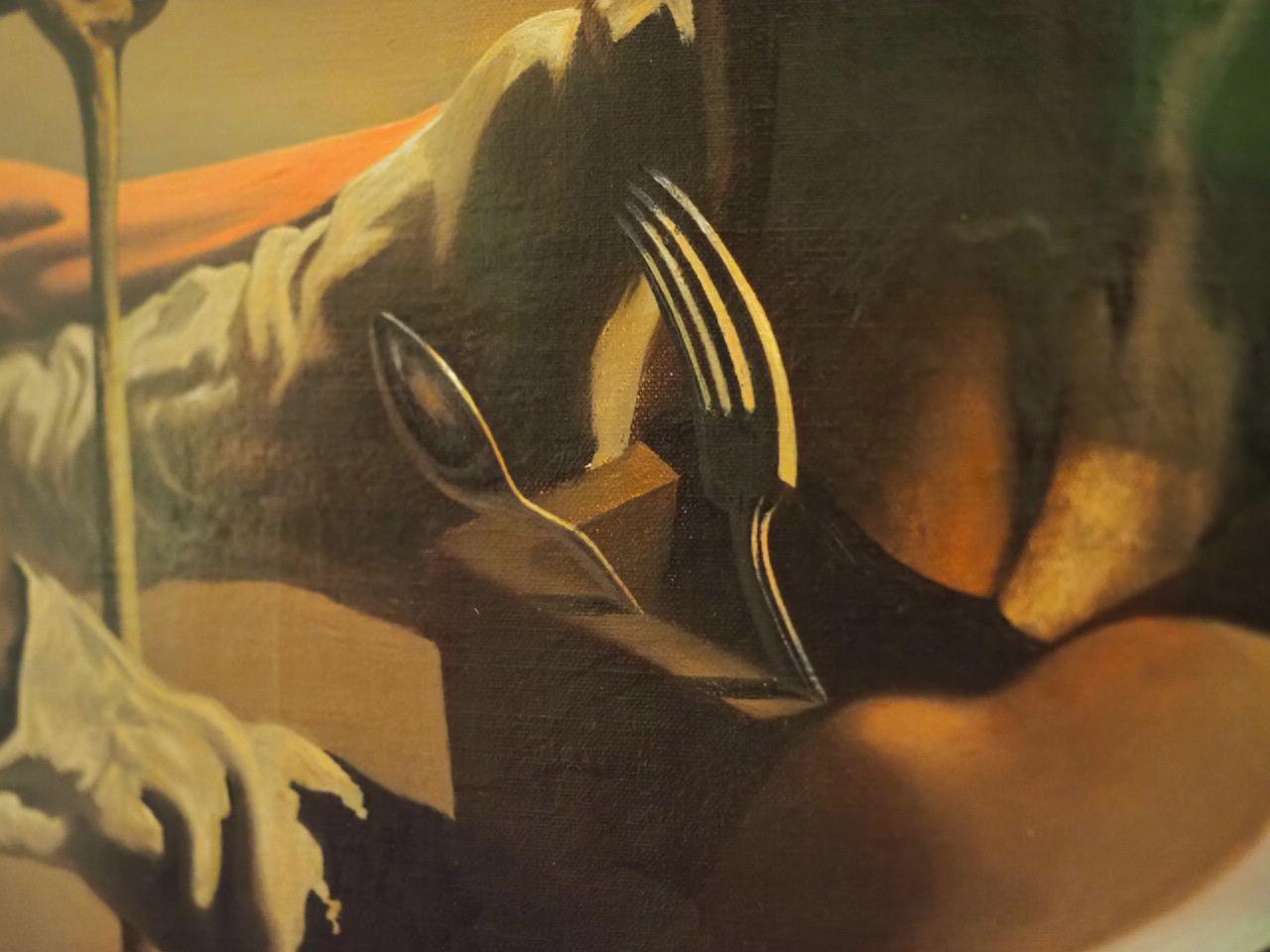 Detalj fra et av Salvador Dalí sine malerier.