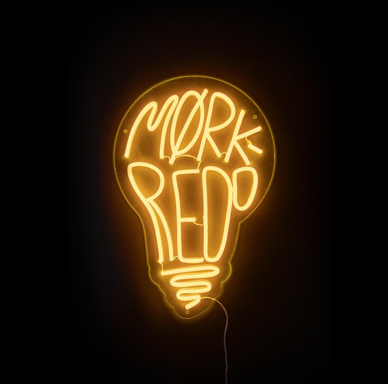 """""""Mørkredd"""", 2018, 44 x 66 cm, neonlys og plexiglass. 🔴SOLGT"""