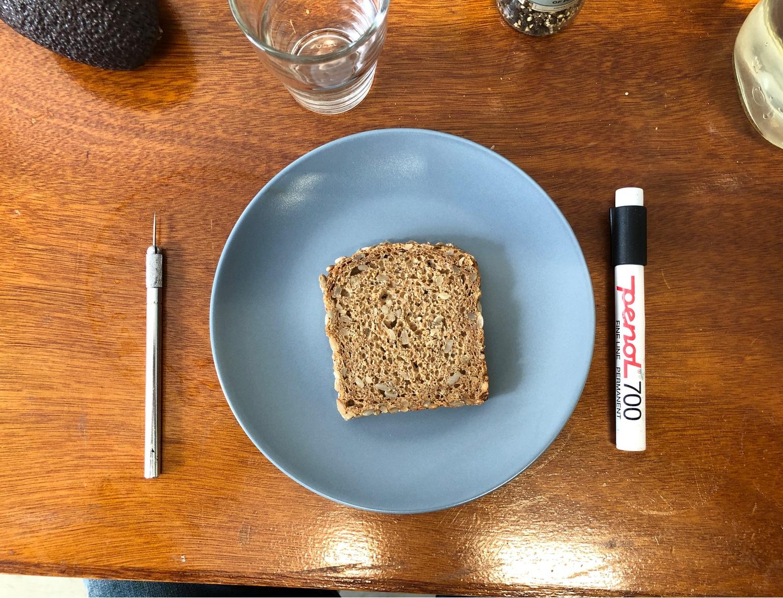 Var så inspirert at selv lunsjen ble av det skapende slaget.