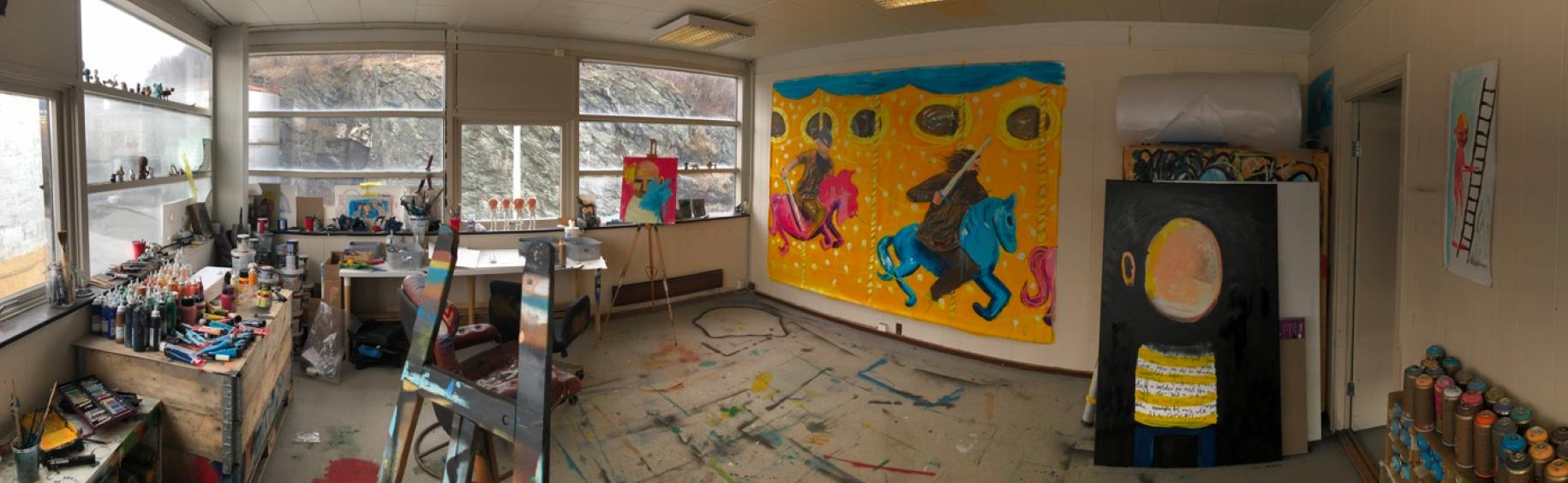 Atelieret en vårdag i 2019.