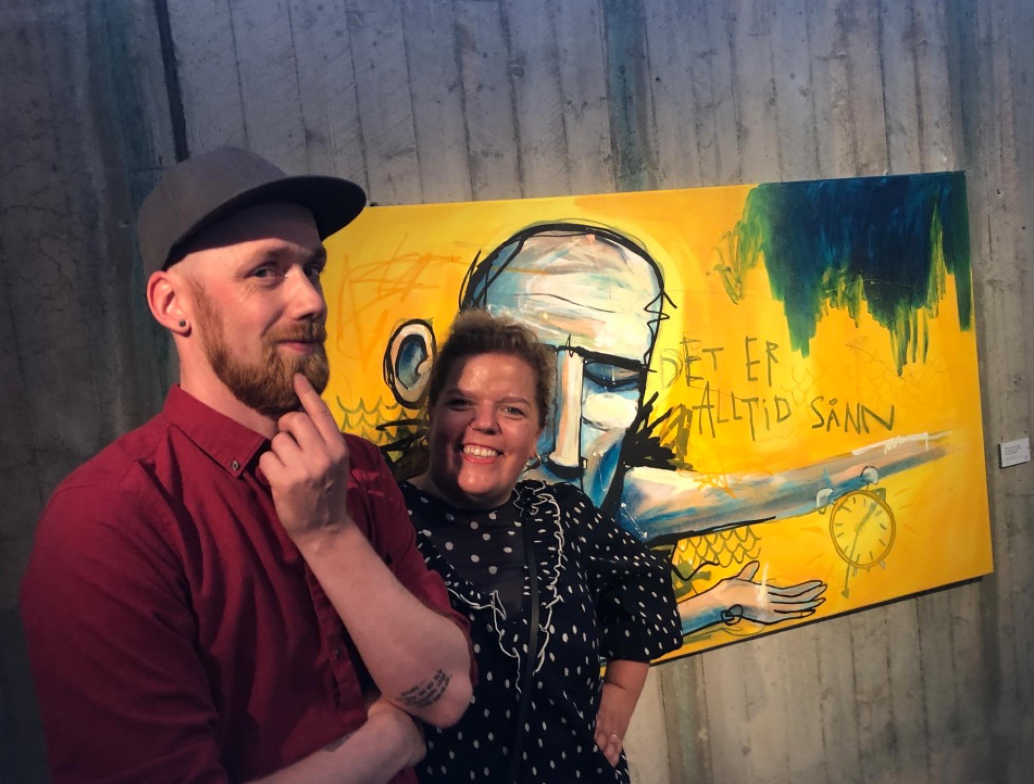 """Ekstra gøy også selvsagt at Else fikk serigrafiet """"Karusellen"""" av SNK."""