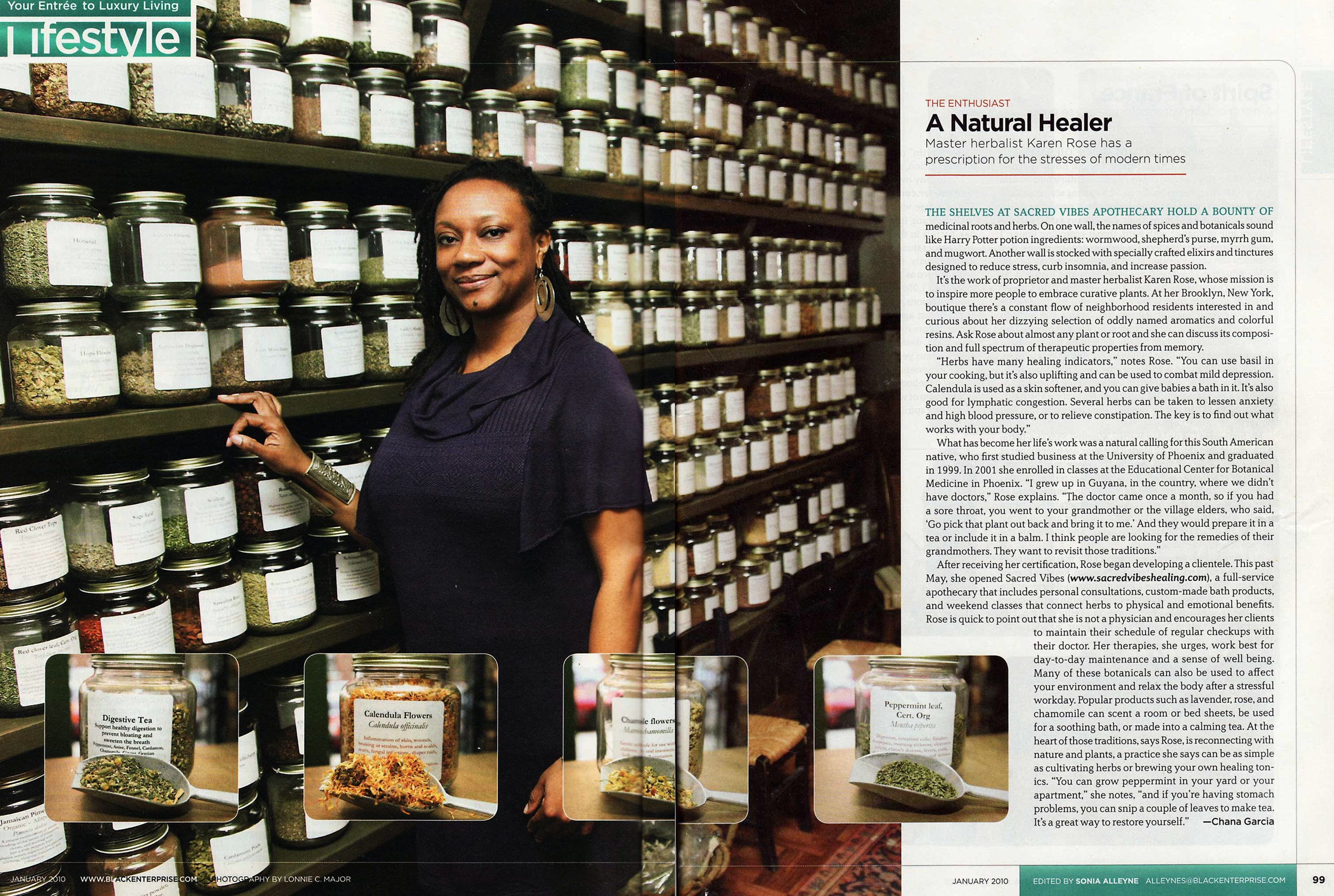 Sacred Vibes featured in Lifestyle Magazine