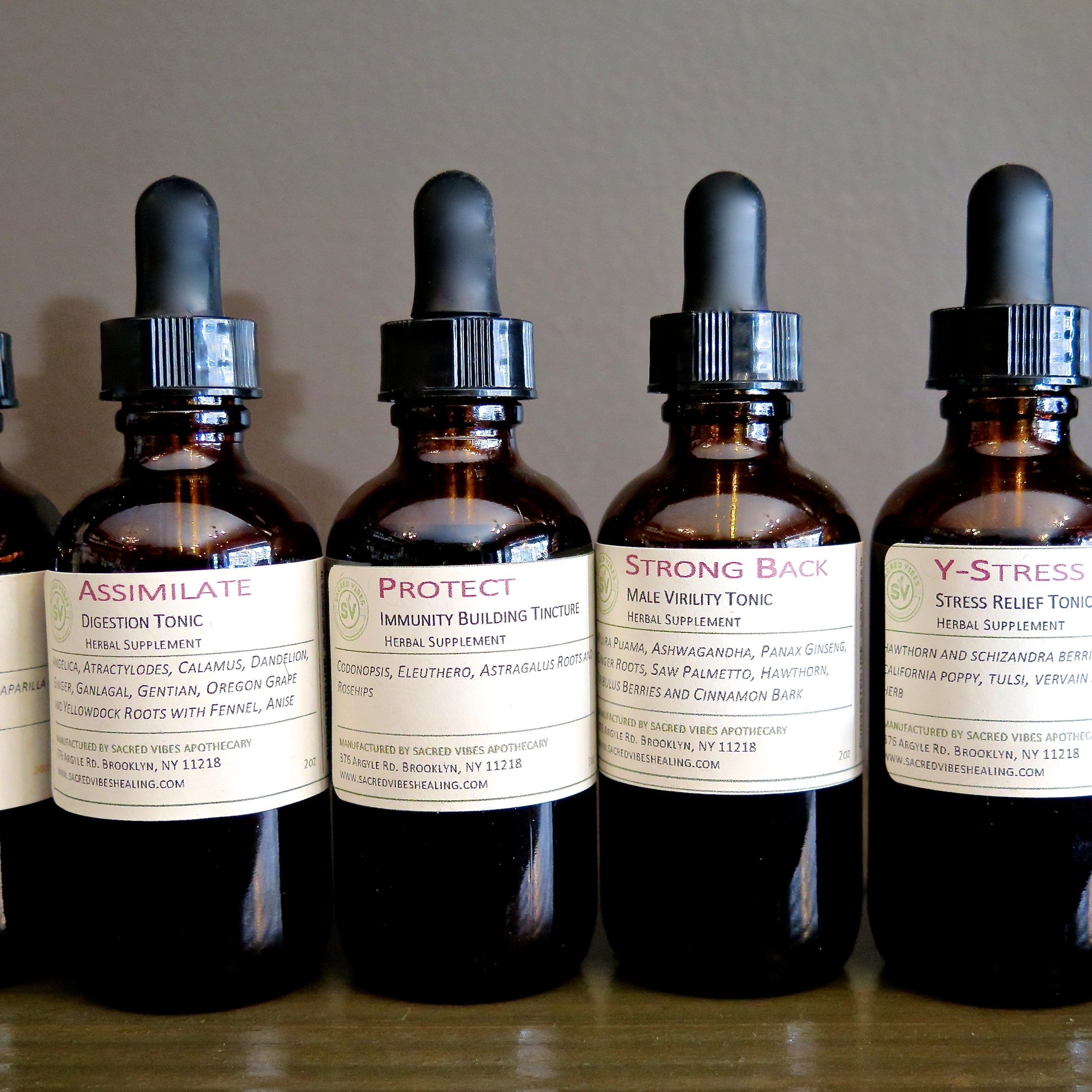 Sacred Vibes Herbal Tinctures