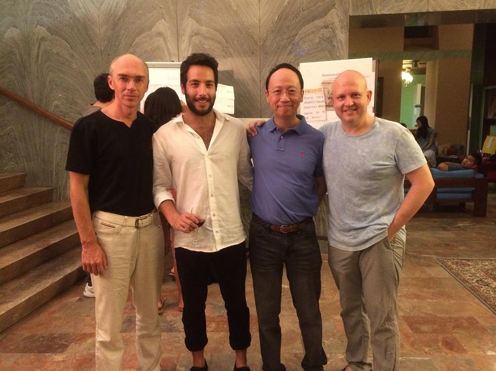 From left to right: Alex Sokolov, Carmel Itai, BL and Steven Spooner.