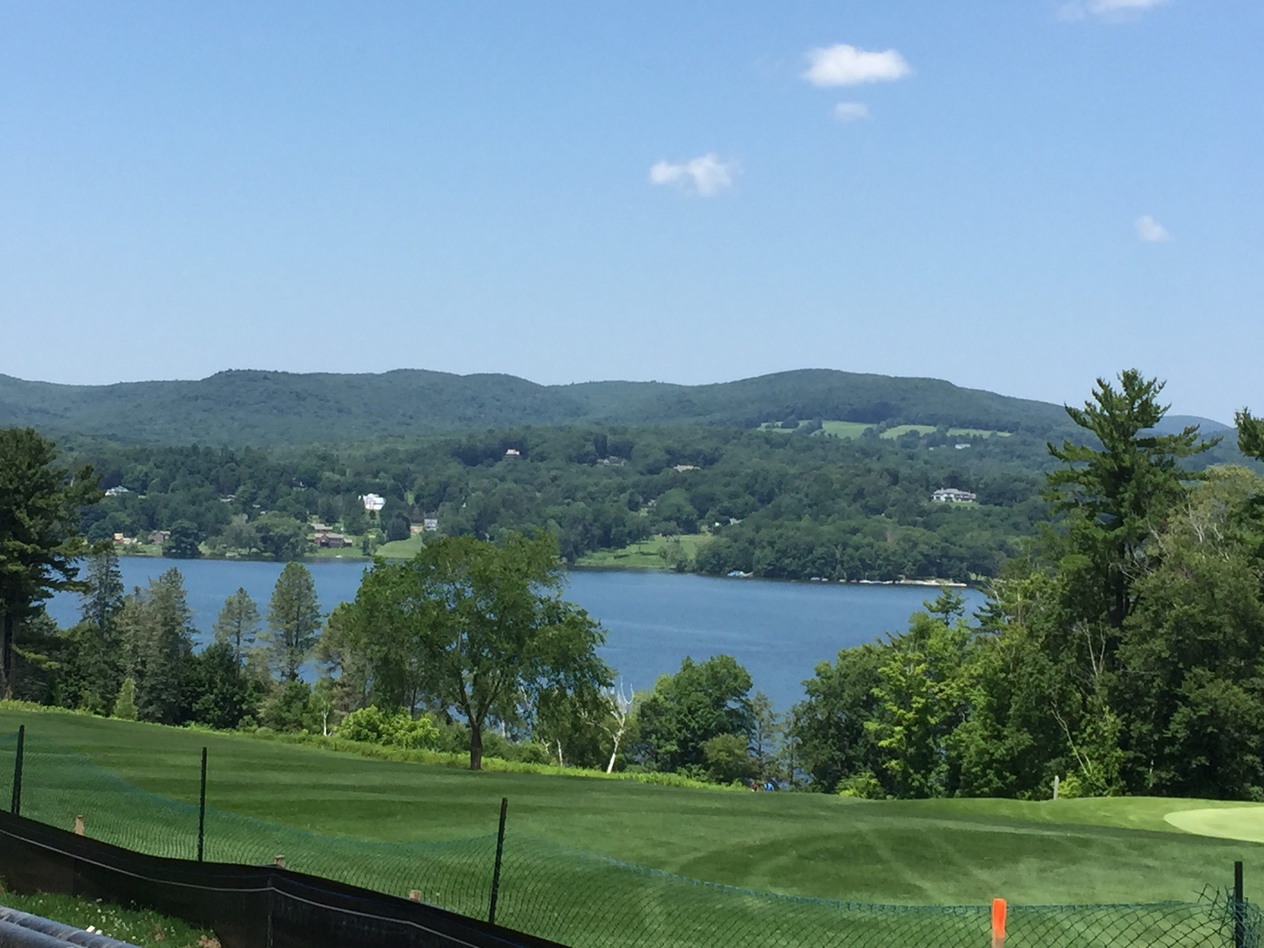 Hotchkiss campus - golf course overlooking a lake