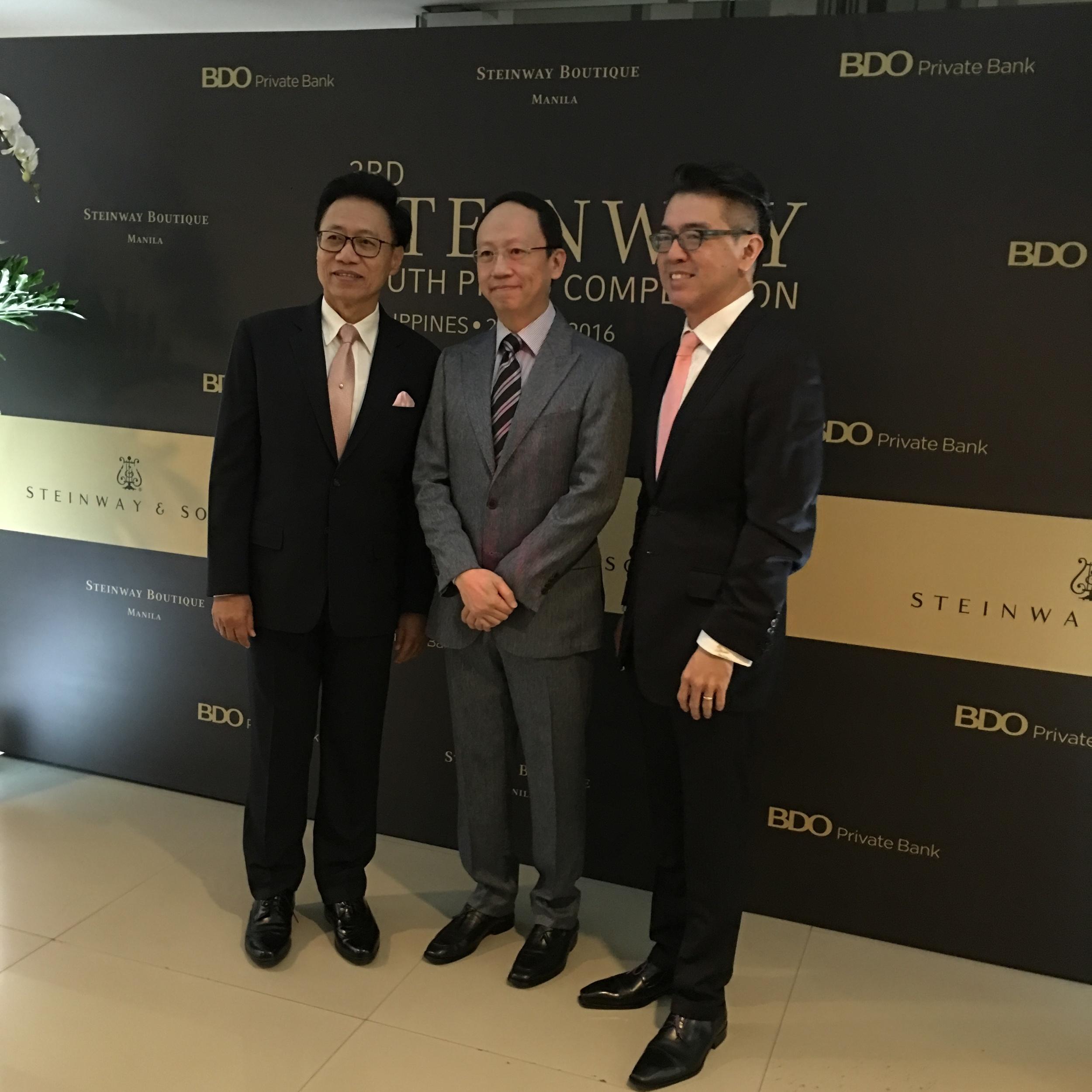 Competition Jury (from left to right): Nat Yontararak, Benjamin Loh, Albert Tiu