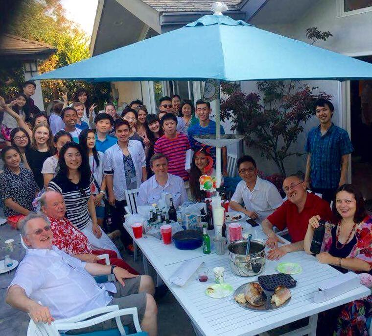 House party at JPA faculty Edward Francis's house