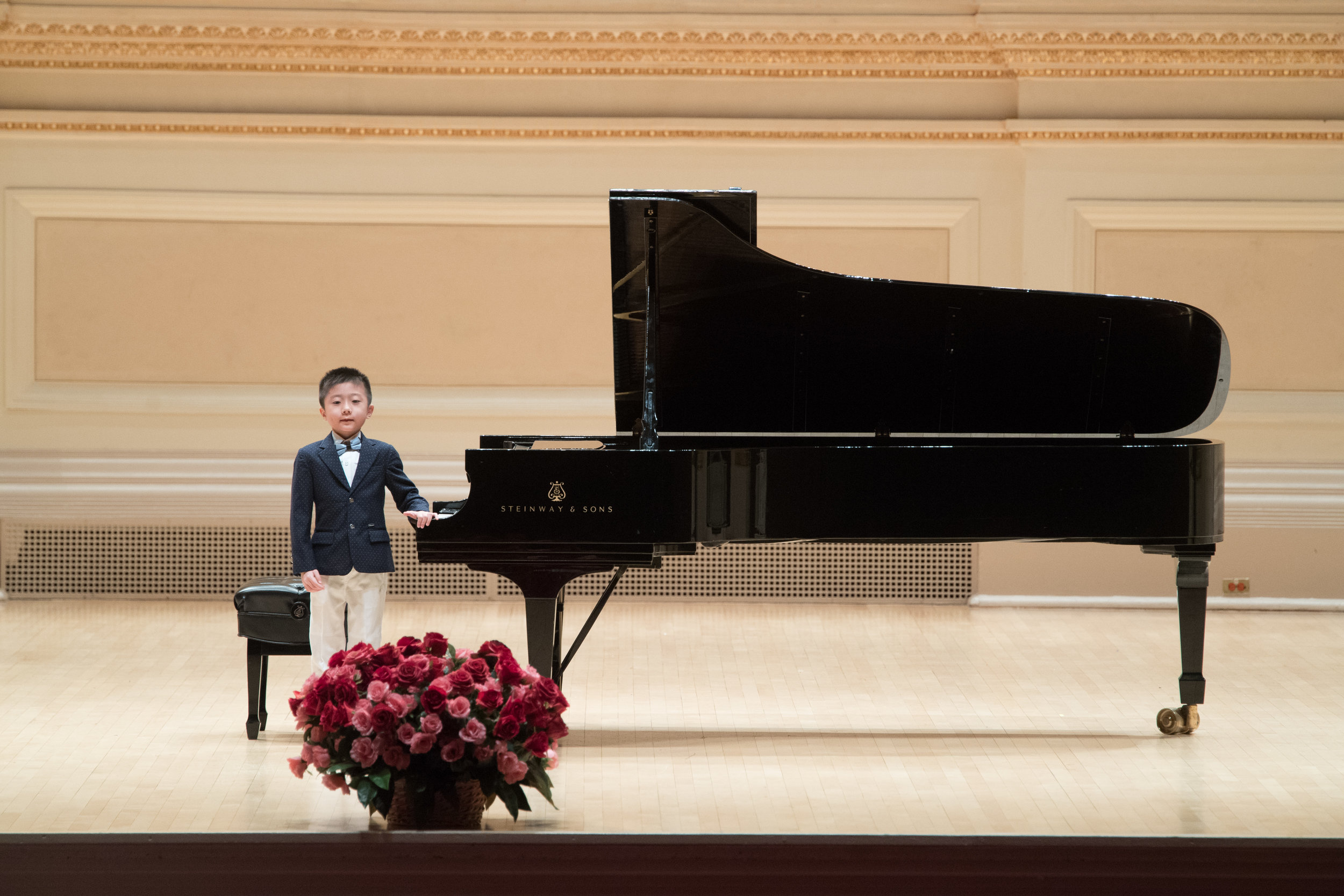 7-year-old Cao Junwei's debut at Stern Auditorium, Carnegie Hall.