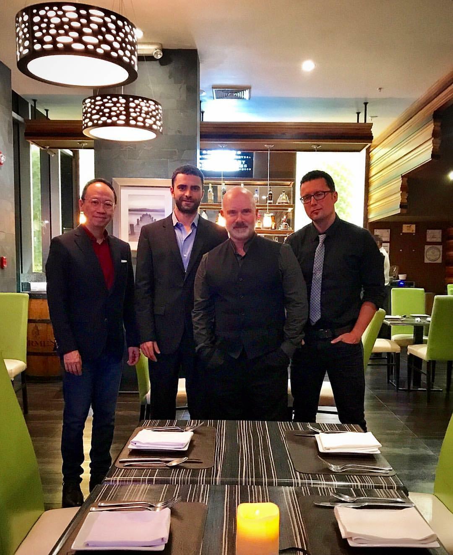 With (right to left) Sergei Kuznetzov, Gerardo Teissonnierre and Lanzo Luconi