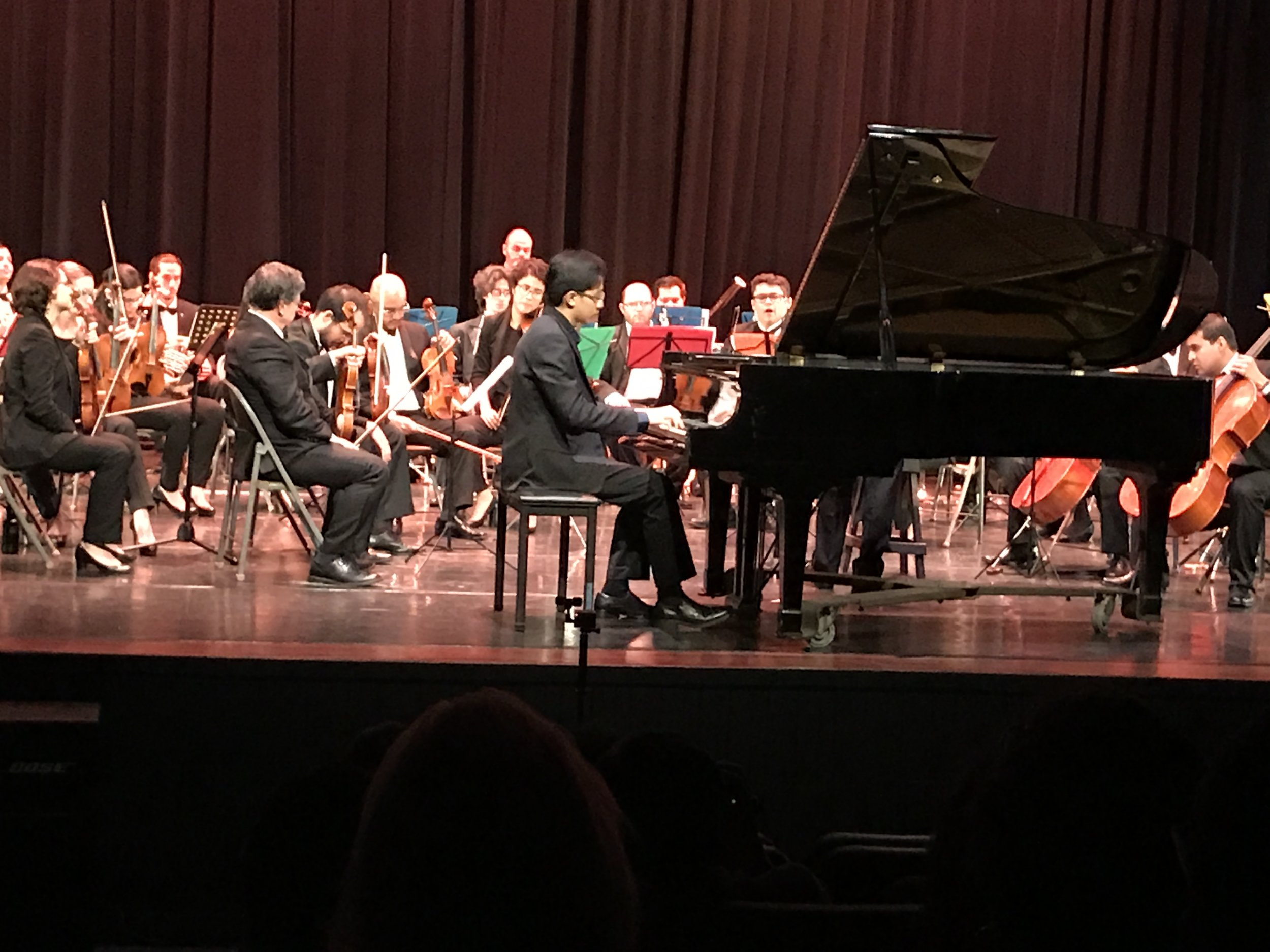 Fong Kai De performing with the National Symphony Orchestra of Costa Rica