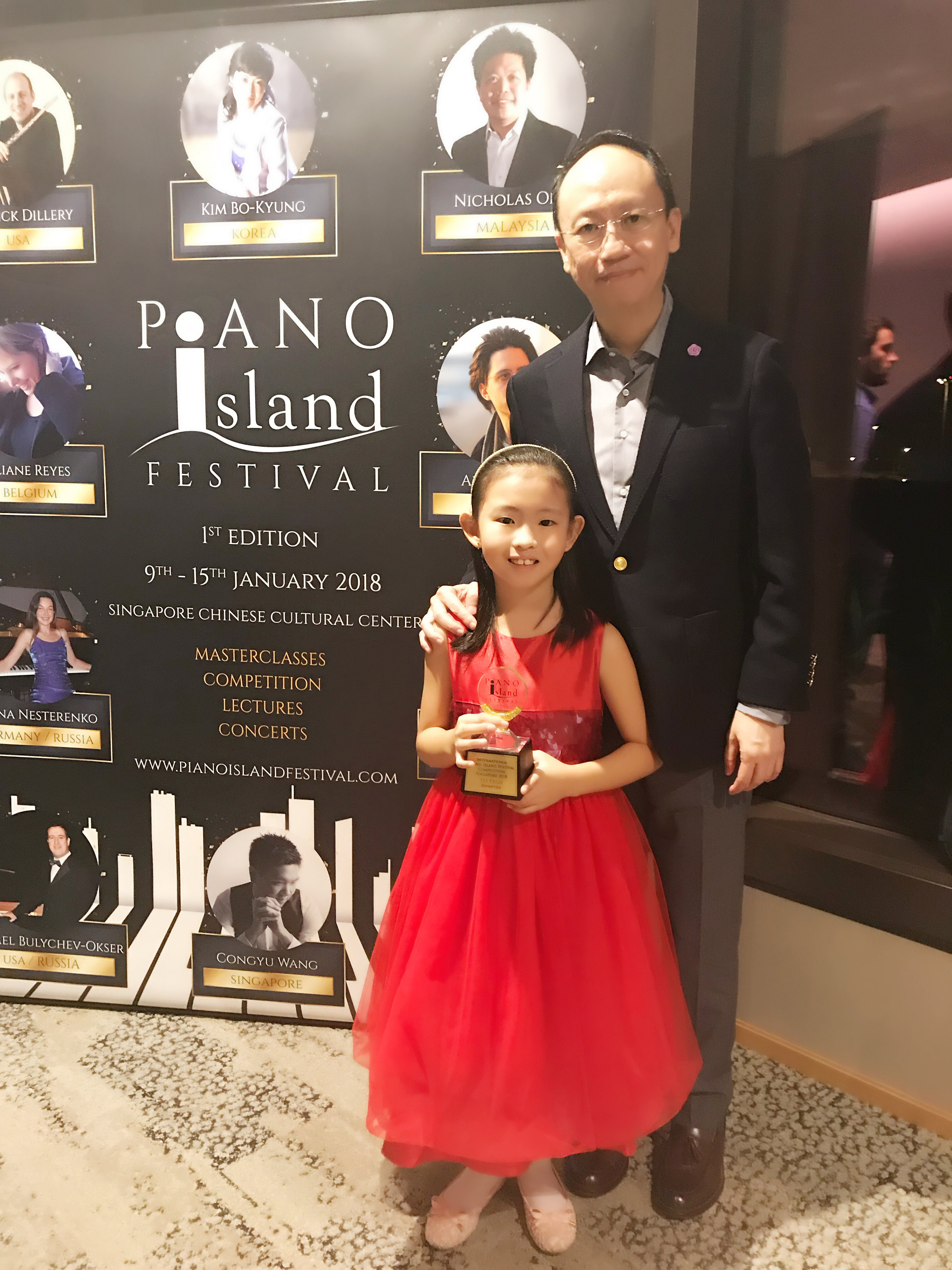 Casey Li (8 y.o.) wins the Absolute First Prize, Infantile category.