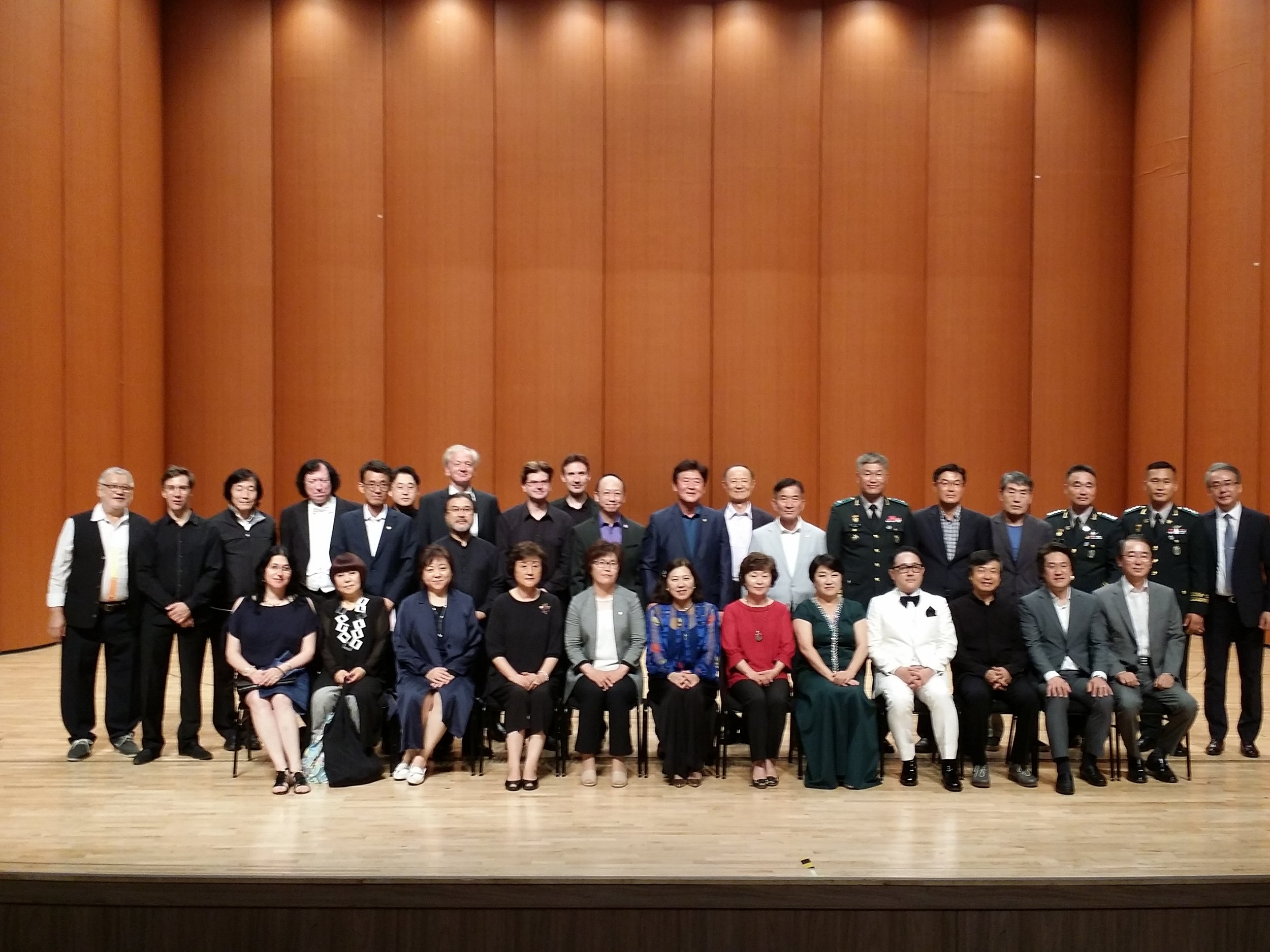 Performers and VIP guests after the Gala Concert on July 28, 2018