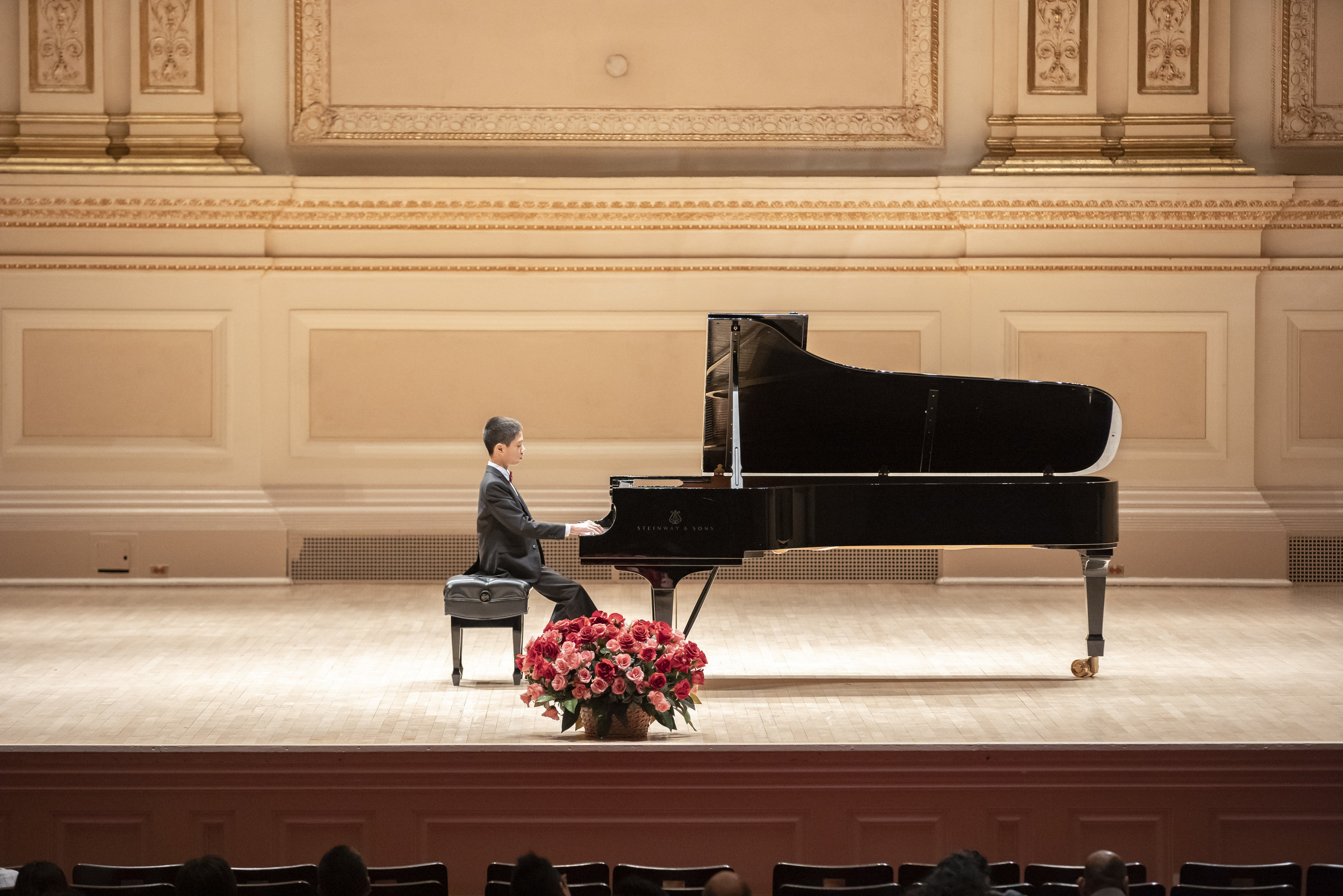 Jaden Tan performing at the Stern Auditorium, Carnegie Hall
