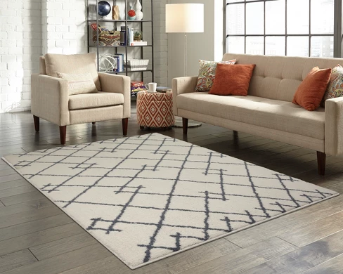 TRIBAL DESIGN TUFTED AREA RUGS CREAM - PROJECT 62™ - Your home will thank you.
