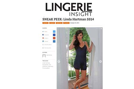 LINGERIE INSIGHT: SNEAK PEAK LINDA HARTMAN SS14