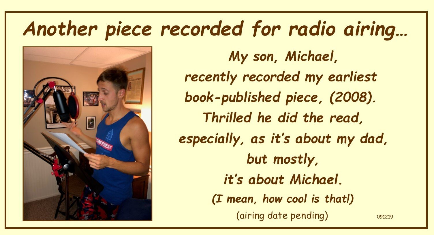 Michael recording kiss piece 090719.jpg