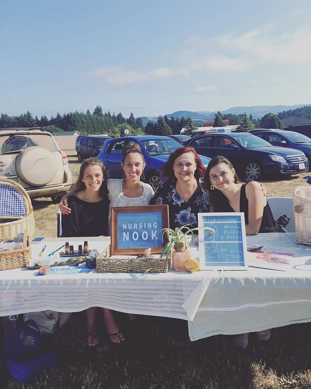 What a ✨lucky✨ gal I am to have these #doulas as friends + support sisters @willamettevalleydoulas