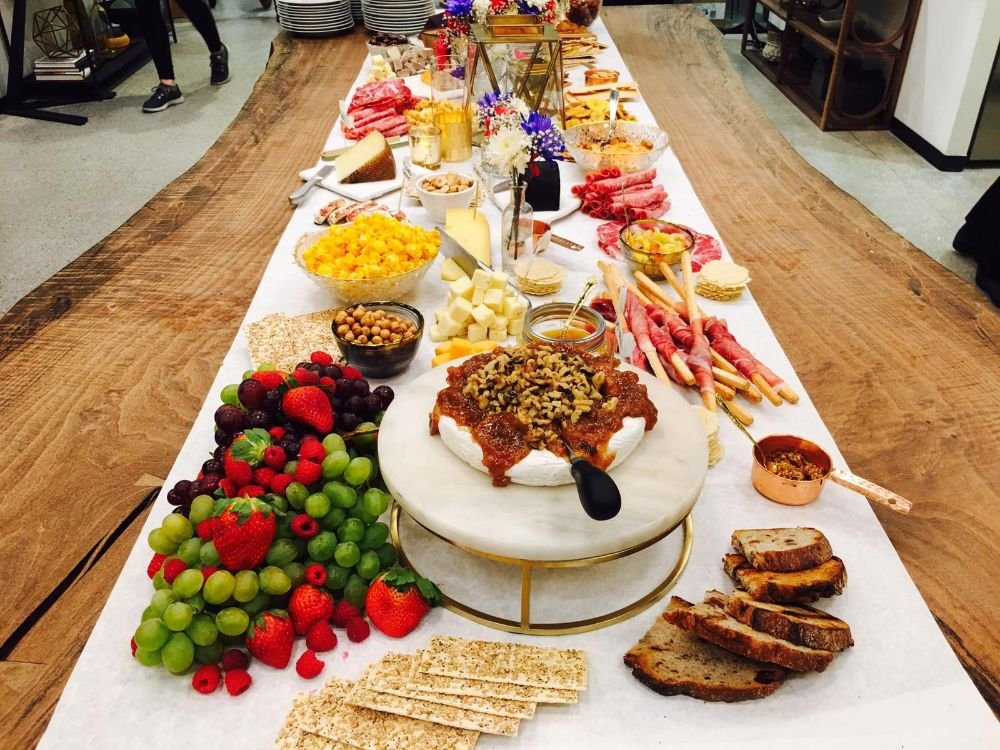 Each Table is Intricately Designed by a Professional Grazing Board Artist with an expertly trained and sophisticated sense of creativity and vision to ensure a work of art you most likely have never seen at an event before.