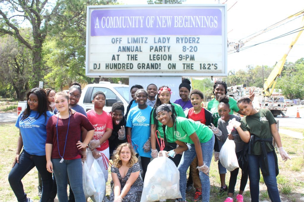 """2017: THE PLAYERS Championship Boys & Girls Club participated in the """"Keep St. Augustine Clean"""" initiative."""