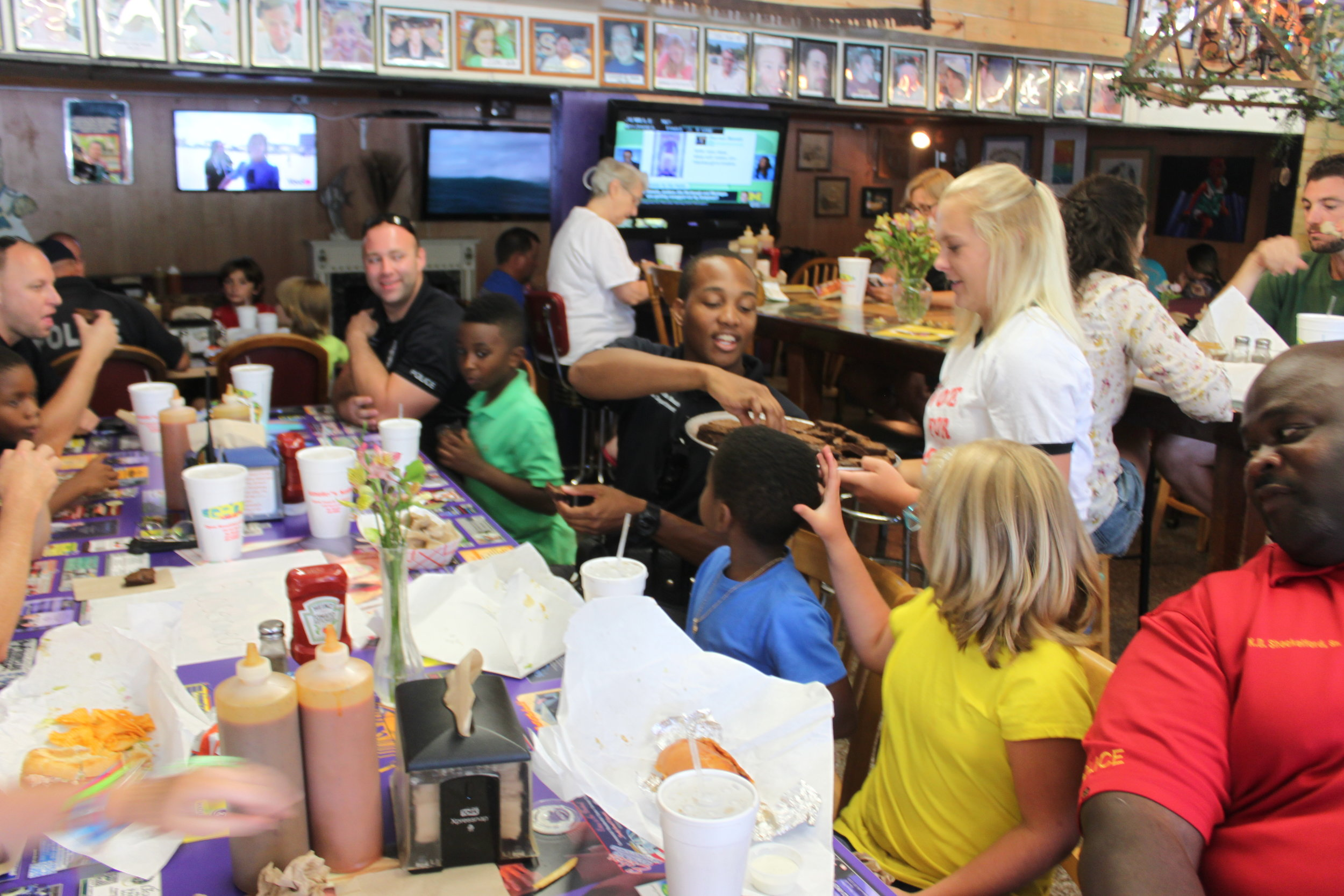 2016: Cops with Kids from Beaches Boys & Girls Club Event at Angie's Subs
