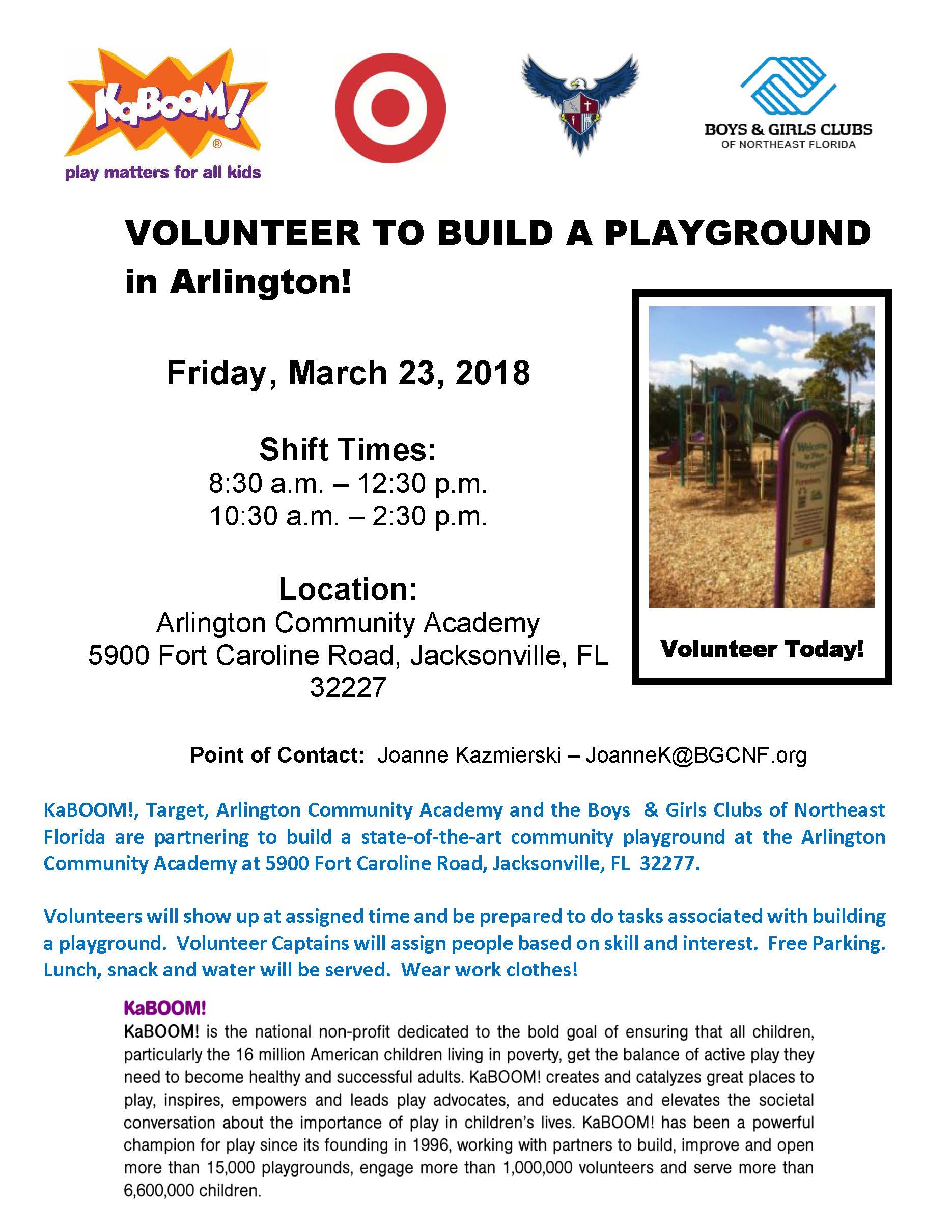 3.23.2018 KaBoom - Building a Playground Volunteer Opportunity - March 23, 2018 Boys & Girls Clubs of NE FL Flyer.jpg