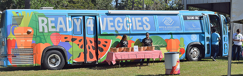 Ready 4 Veggie Mobile Grocery Stand Bus at 3rd Annual Collard Green Festival
