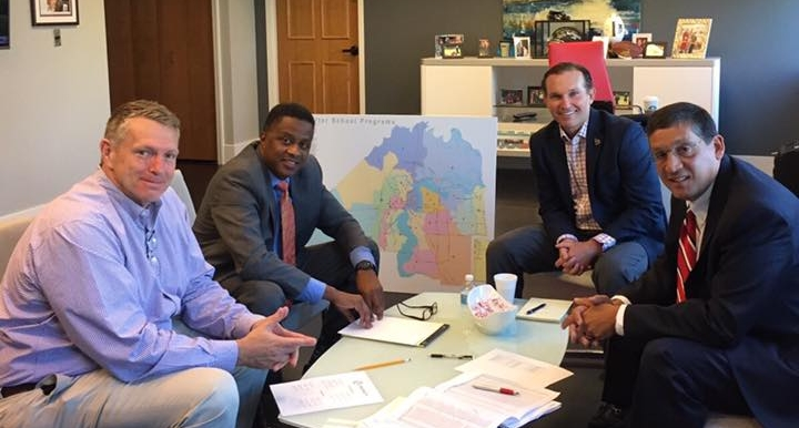 Left: Mayor Lenny Curry; CM: Reggie Brown; Right: BGCNF CEO, Paul Martinez