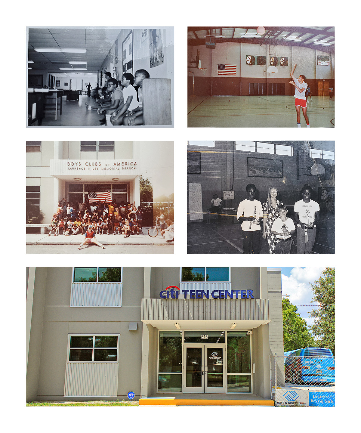 Citi Teen Center, formerly the Laurence F. Lee Boys & Girls Club through the ages.