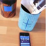 Die Belichtungszeiten sind sehr lang. Ein Handy ist als Zeitmesser bestens geeignet.