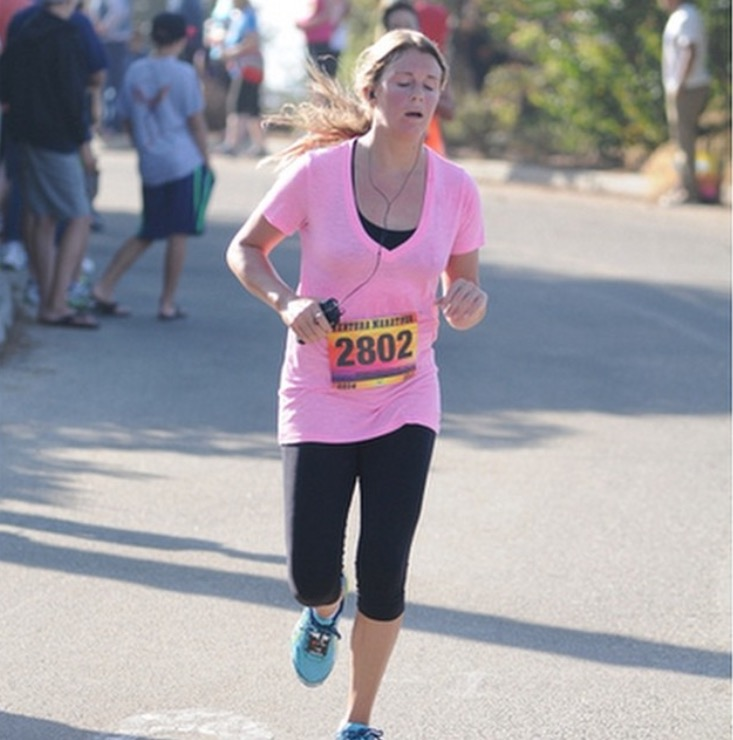 This is me getting to the finish line.... do I look tired?